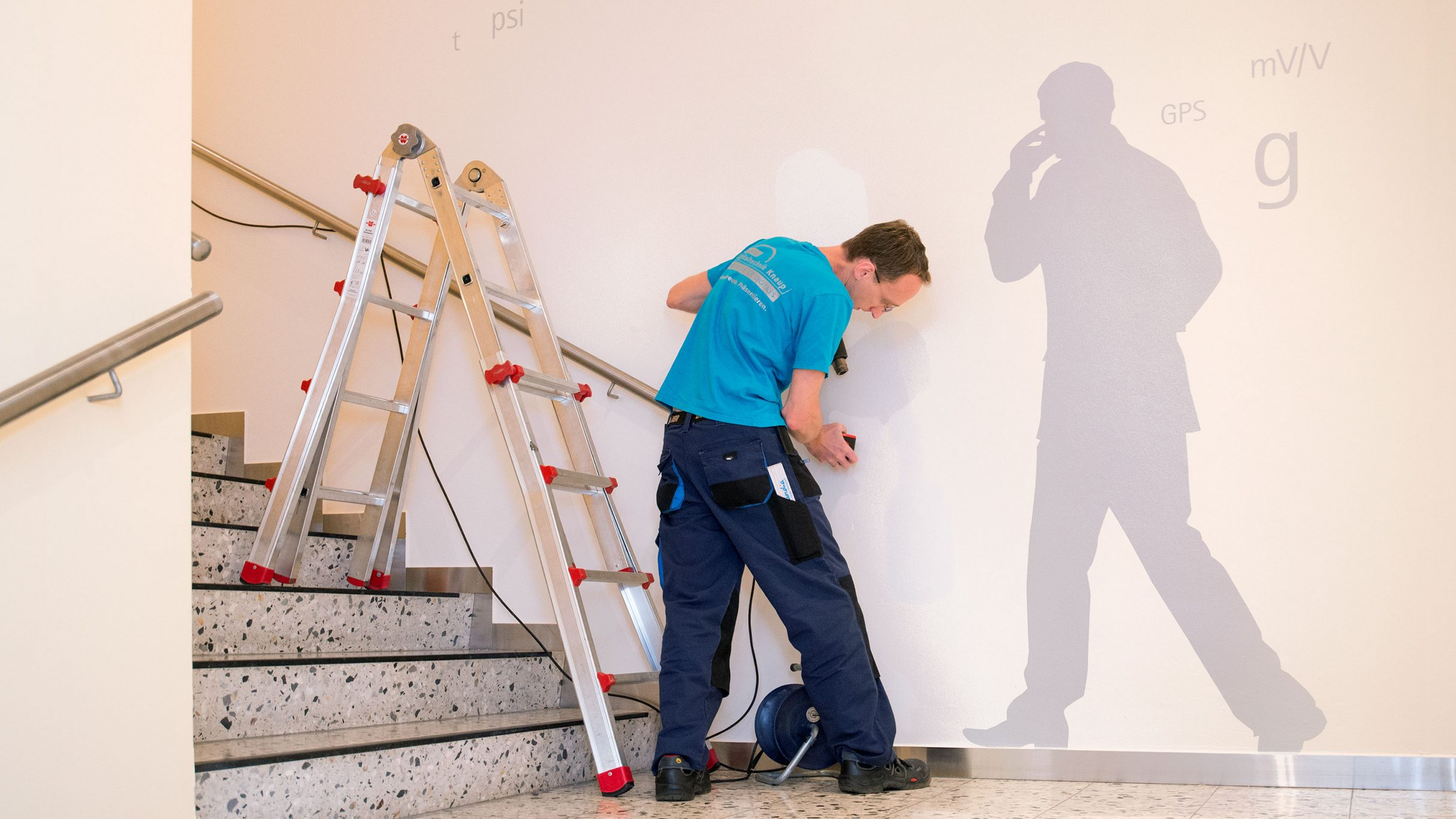 Montage Wandgestaltung für die hbm Academy: DIE NEUDENKER® Agentur, Darmstadt
