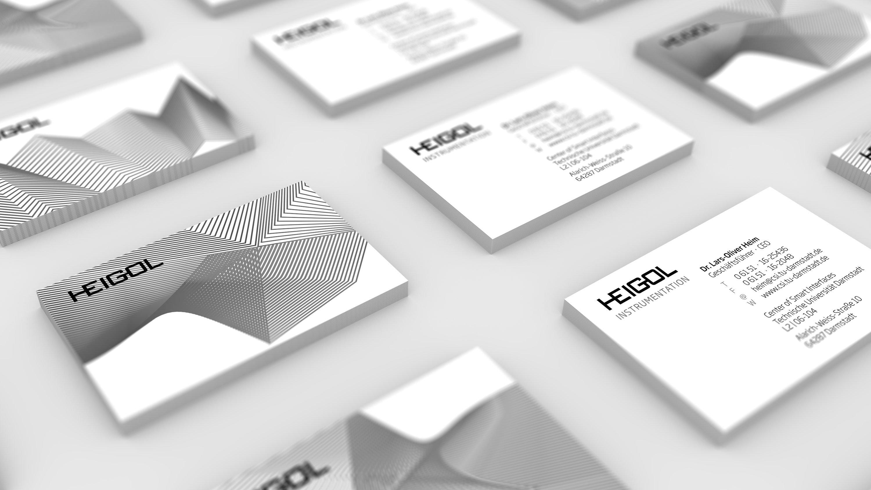 Corporate Design, Visitenkarten für HEIGOL: DIE NEUDENKER® Agentur, Darmstadt