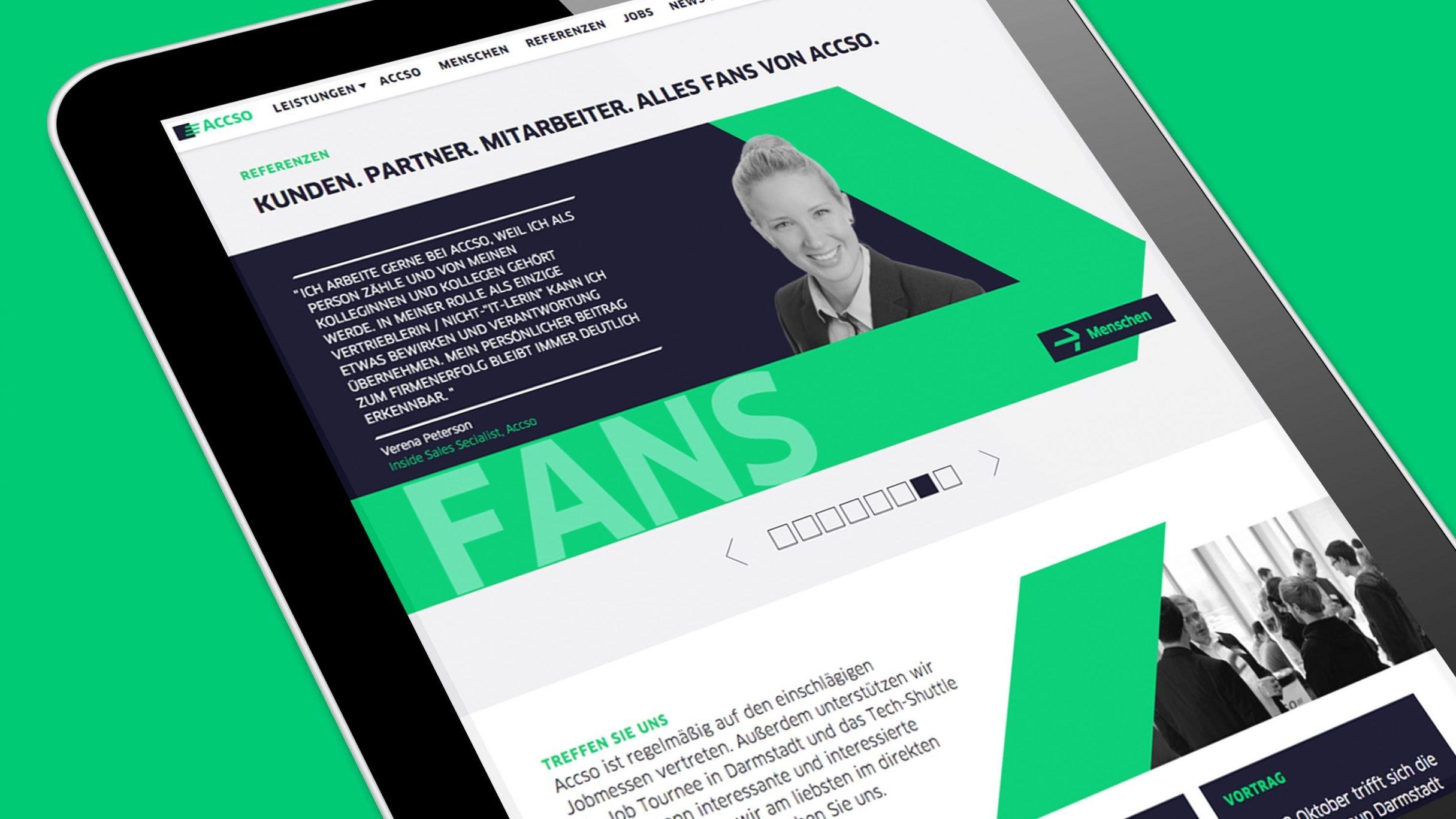 Webdesign, Testimonials für accso: DIE NEUDENKER® Agentur, Darmstadt