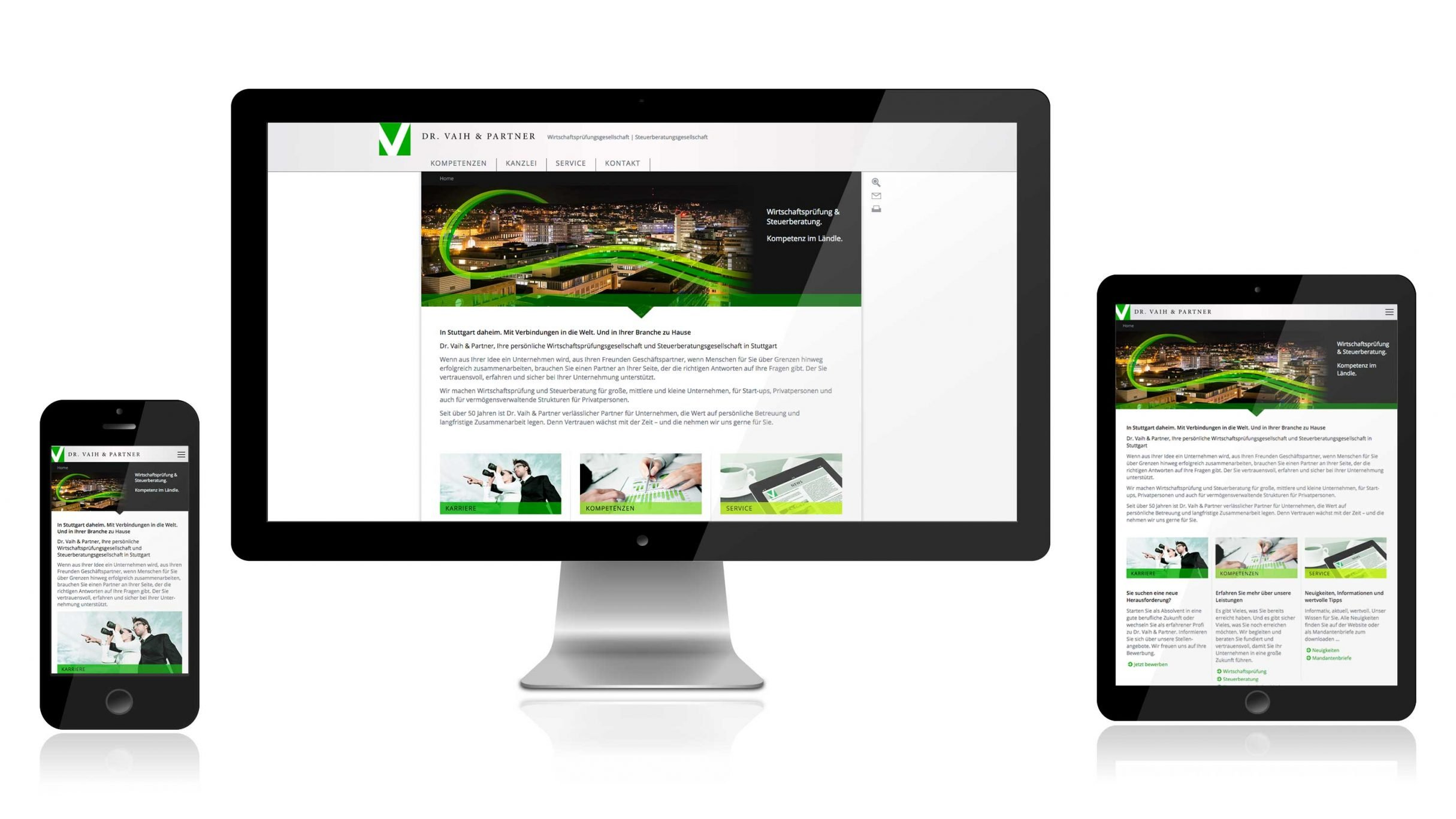 Responsive Website für Dr. Vaih und Partner: DIE NEUDENKER® Agentur, Darmstadt