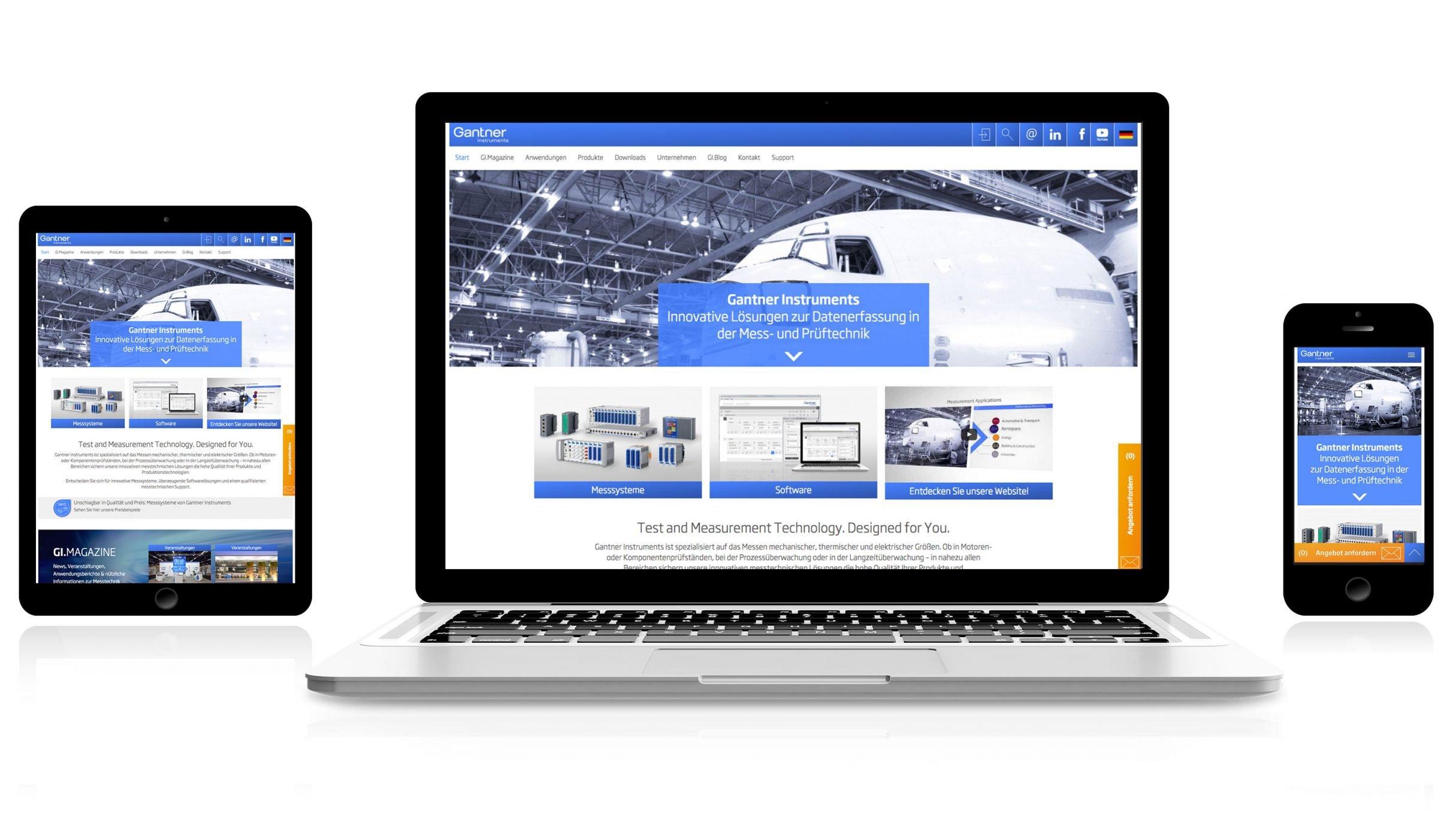 Responsive Website für Gantner Instruments: DIE NEUDENKER® Agentur, Darmstadt