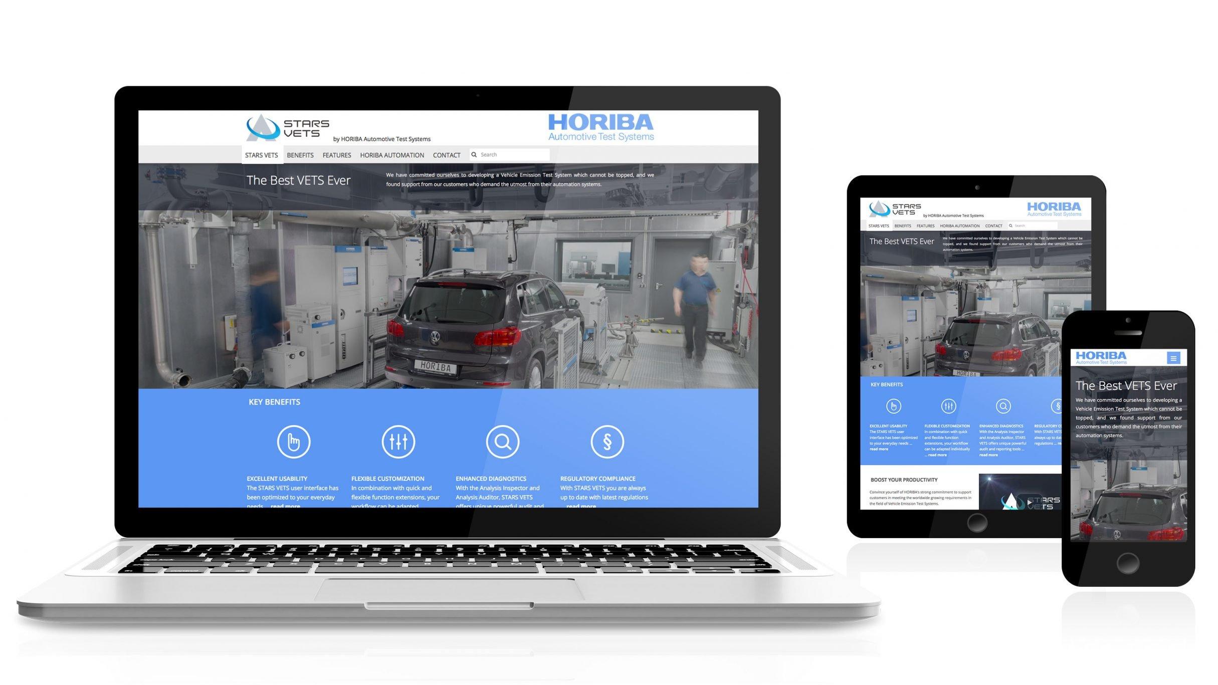 Responsive Webdesign, Microsite für HORIBA: DIE NEUDENKER® Agentur, Darmstadt