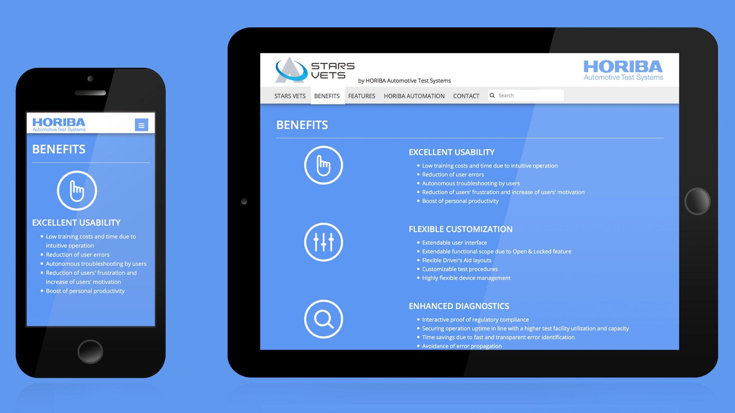 Konzeption und Webdesign für HORIBA: DIE NEUDENKER® Agentur, Darmstadt