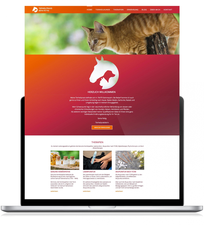 Corporate Website für Tierheilpraxis Sema Fettig: DIE NEUDENKER® Agentur, Darmstadt