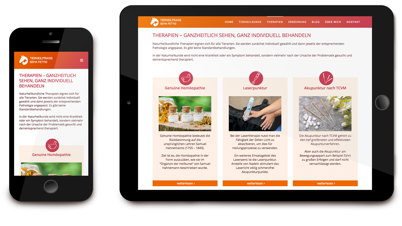 Responsive Webdesign für Tierheilpraxis Sema Fettig: DIE NEUDENKER® Agentur, Darmstadt