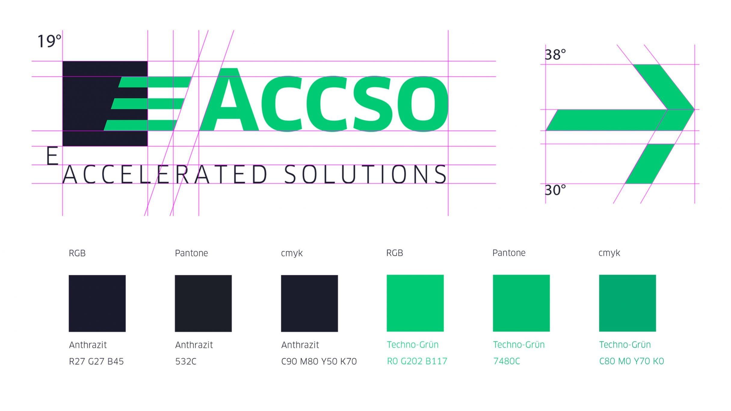 Logo und Corporate Colours für Accso