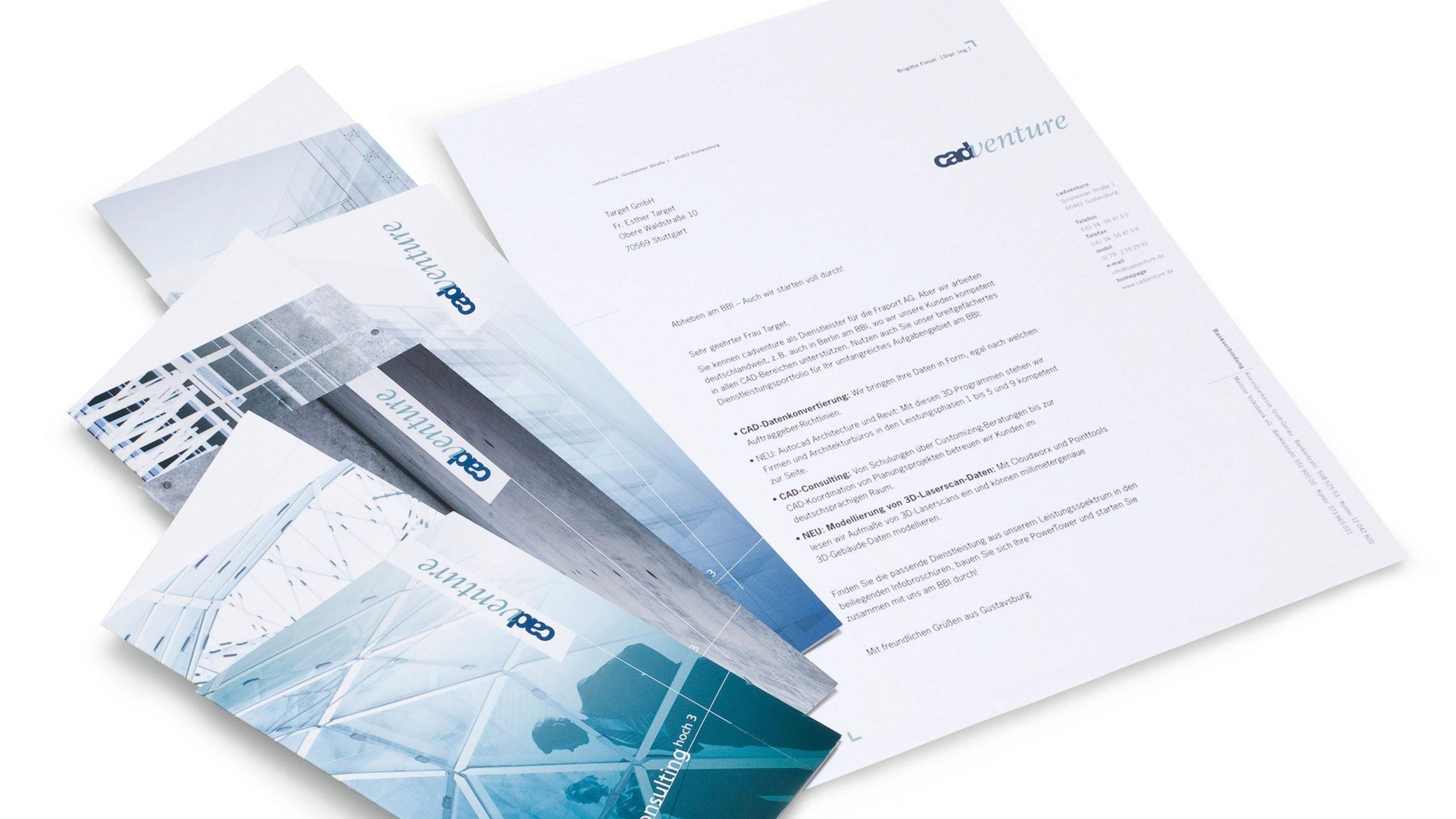 Corporate Design, Power Tower Mailing für cadventure: DIE NEUDENKER® Agentur, Darmstadt