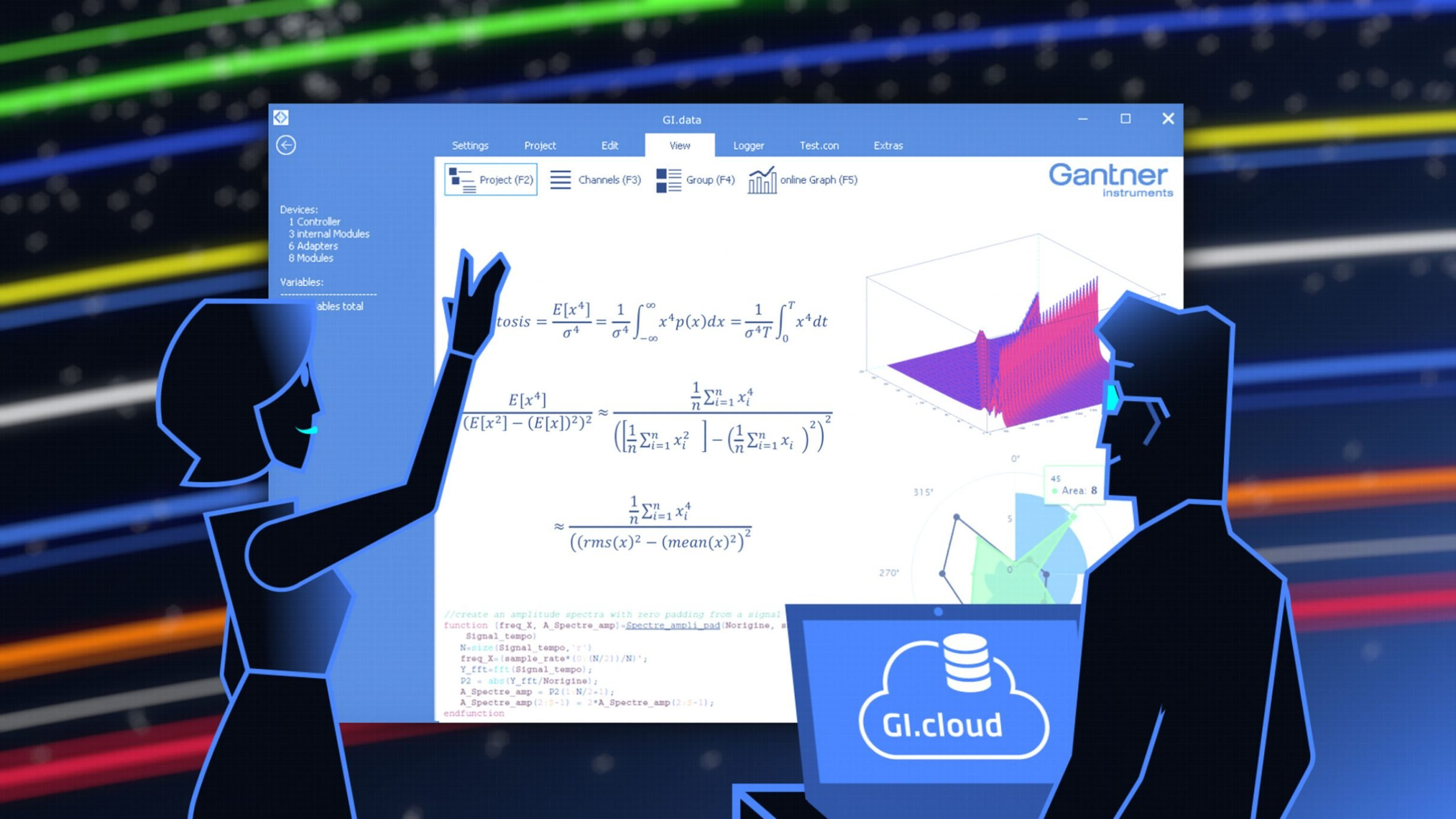 Screenshot Motion Design GI.bench für Gantner Instruments: DIE NEUDENKER® Agentur, Darmstadt