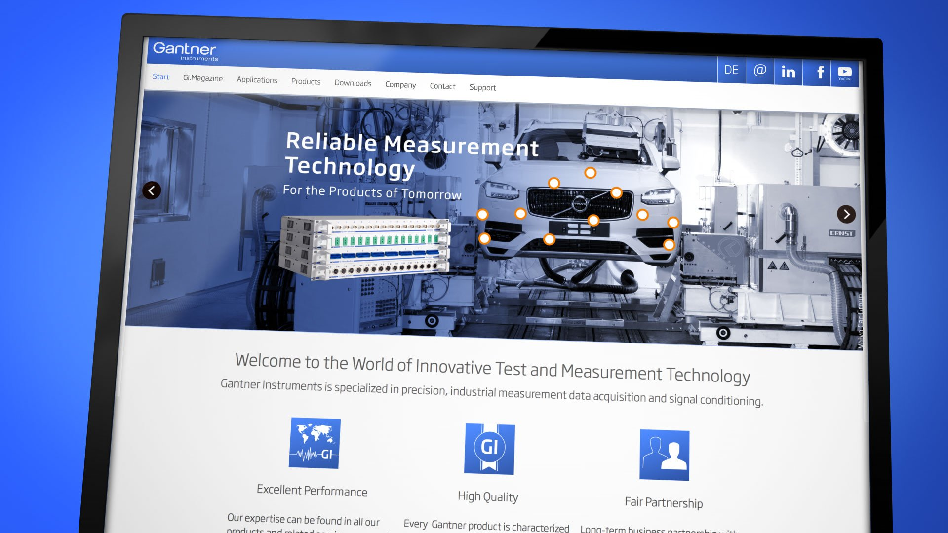 Corporate Website Showreel für Gantner Instruments: DIE NEUDENKER® Agentur, Darmstadt