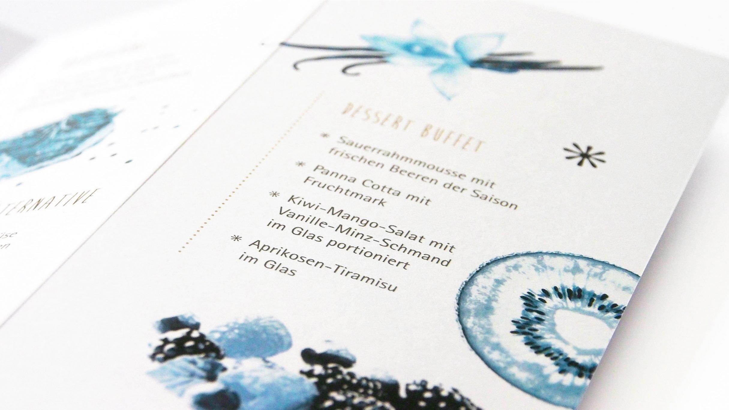 Speisekartendesign 20 Jahre für Giegerich und Partner: DIE NEUDENKER® Agentur, Darmstadt