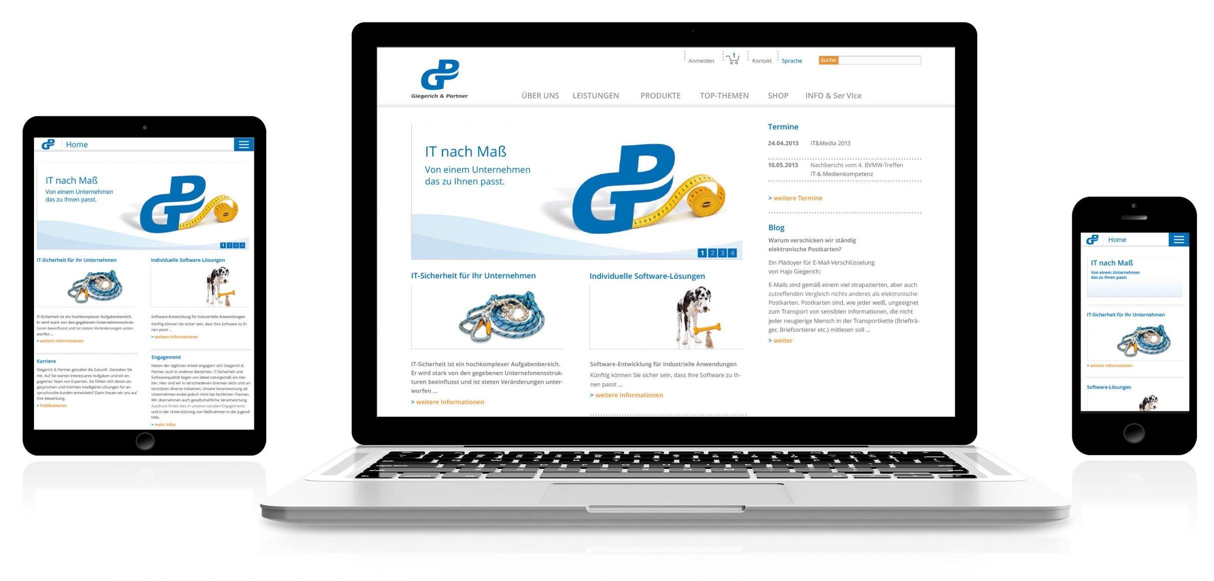 Webdesign für Giegerich und Partner: DIE NEUDENKER® Agentur, Darmstadt