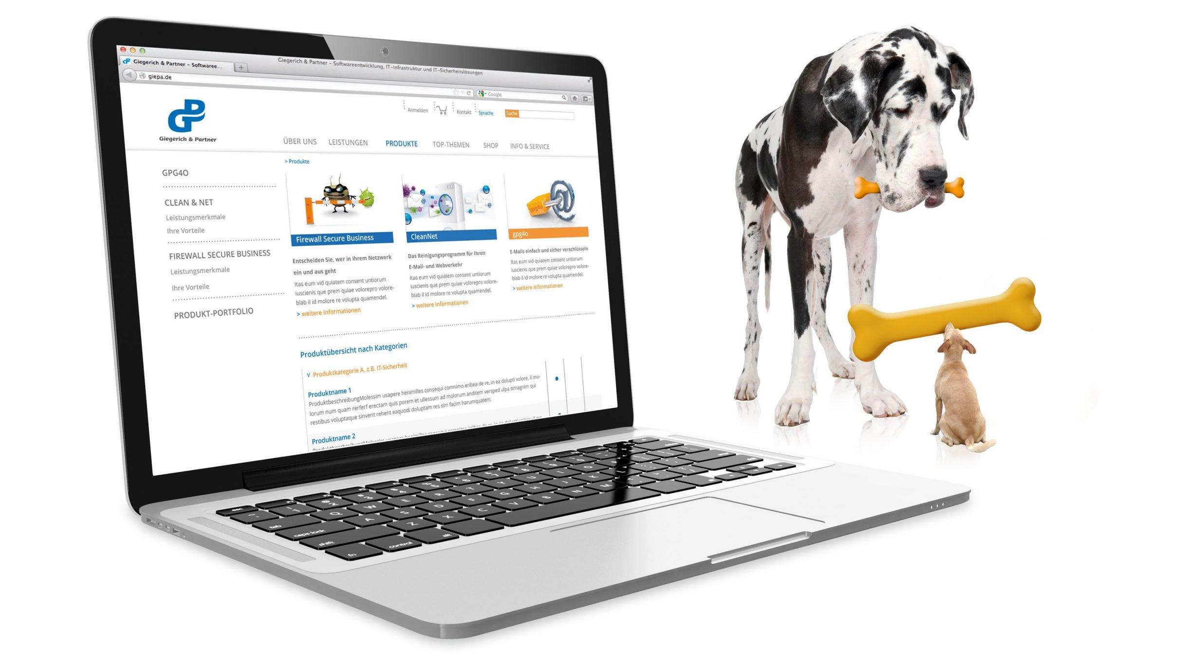 Website Softwarelösung für Giegerich und Partner: DIE NEUDENKER® Agentur, Darmstadt
