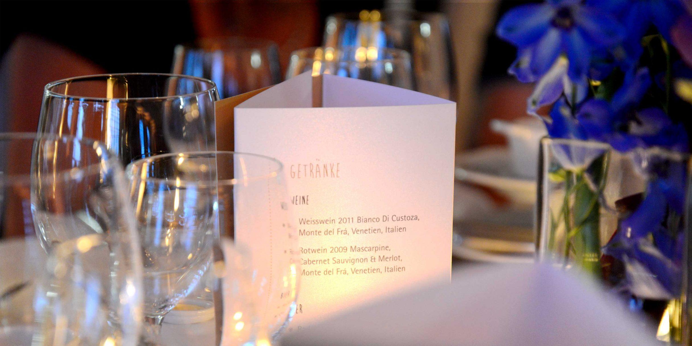 Speisekartendesign für Giegerich und Partner: DIE NEUDENKER® Agentur, Darmstadt