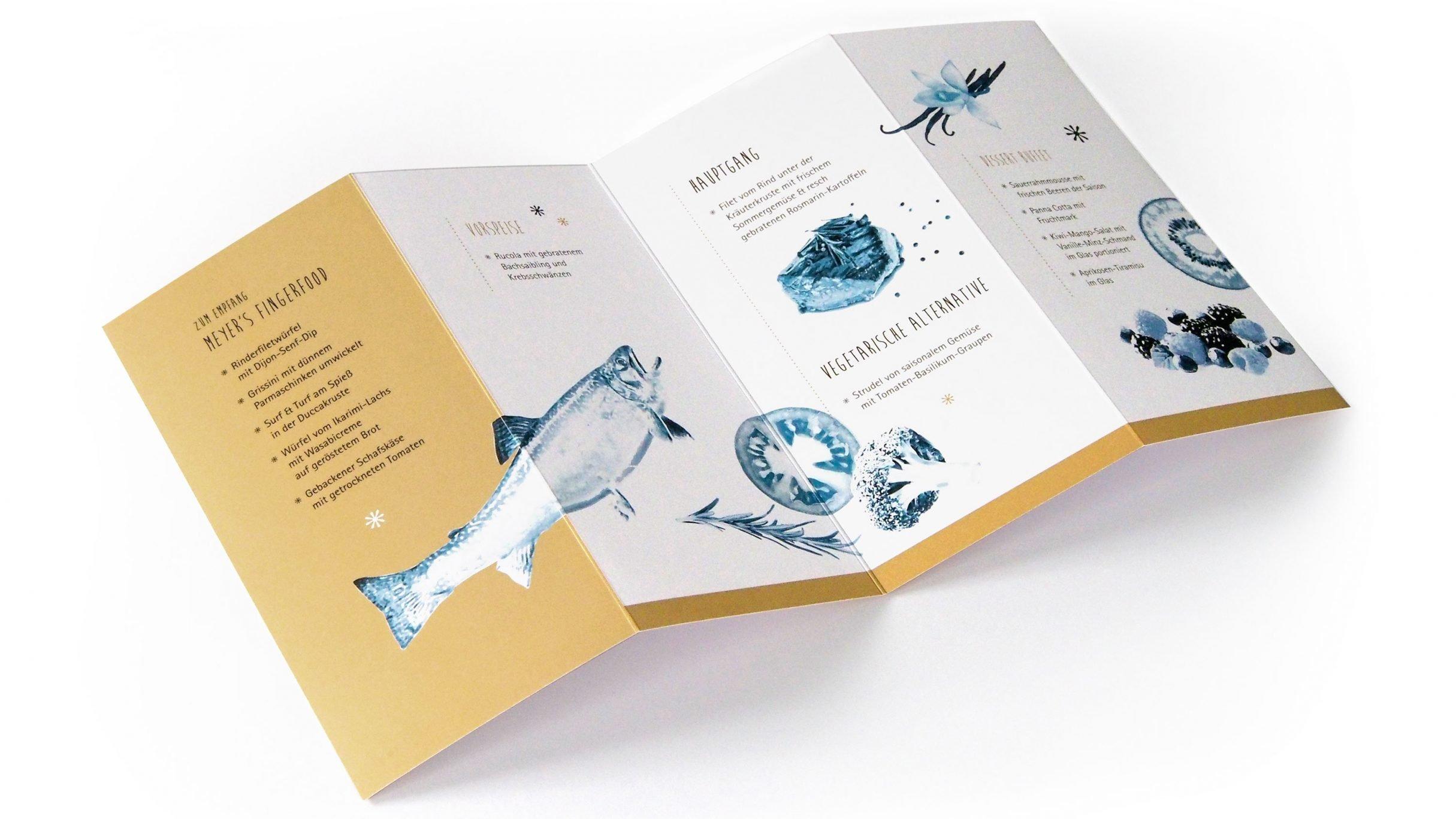 Speisekarten-Design für Giegerich und Partner: DIE NEUDENKER® Agentur, Darmstadt