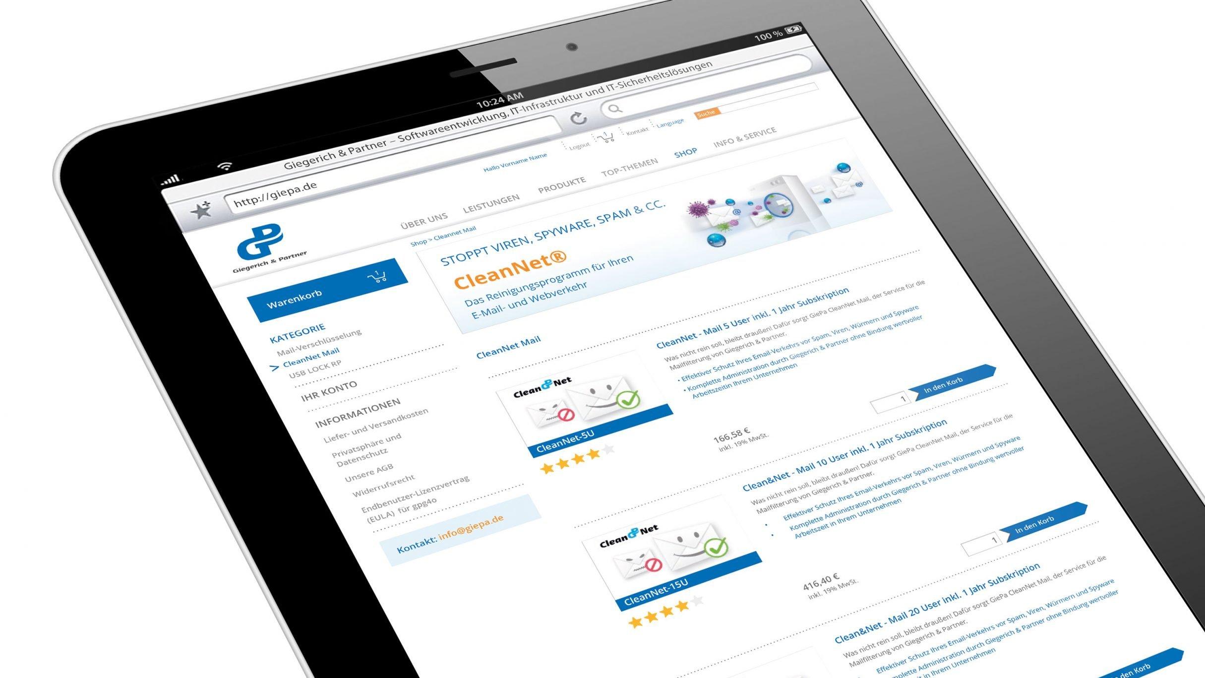 Webdesign, Email Verschlüsselung für Giegerich und Partner: DIE NEUDENKER® Agentur, Darmstadt