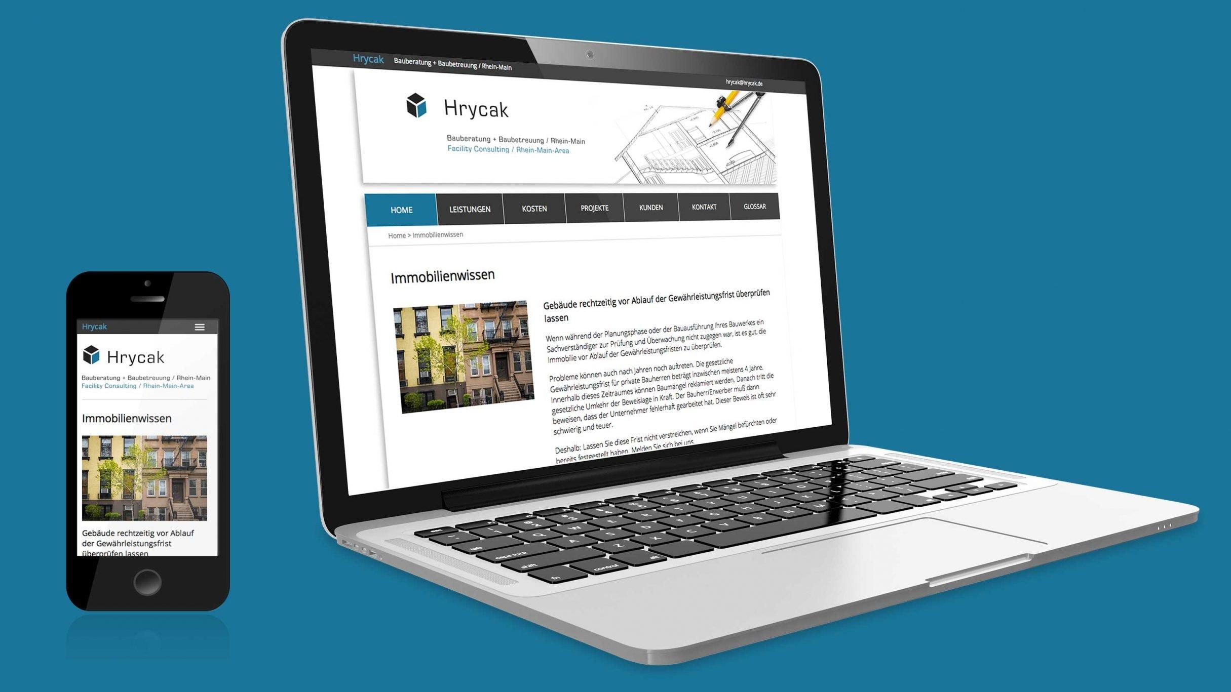 Responsive Website für Hrycak: DIE NEUDENKER® Agentur, Darmstadt