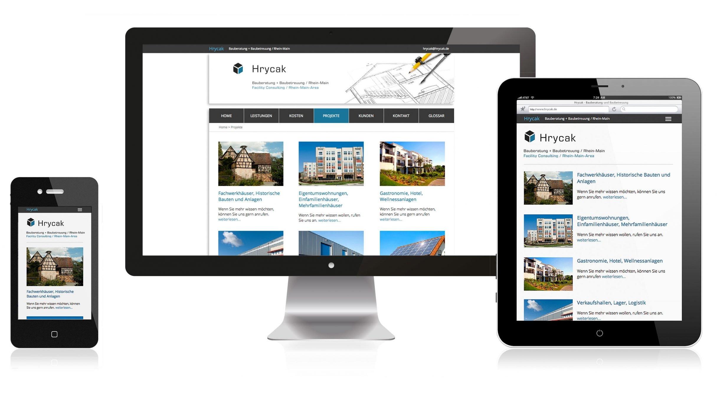 Responisve Webdesign für Hrycak: DIE NEUDENKER® Agentur, Darmstadt