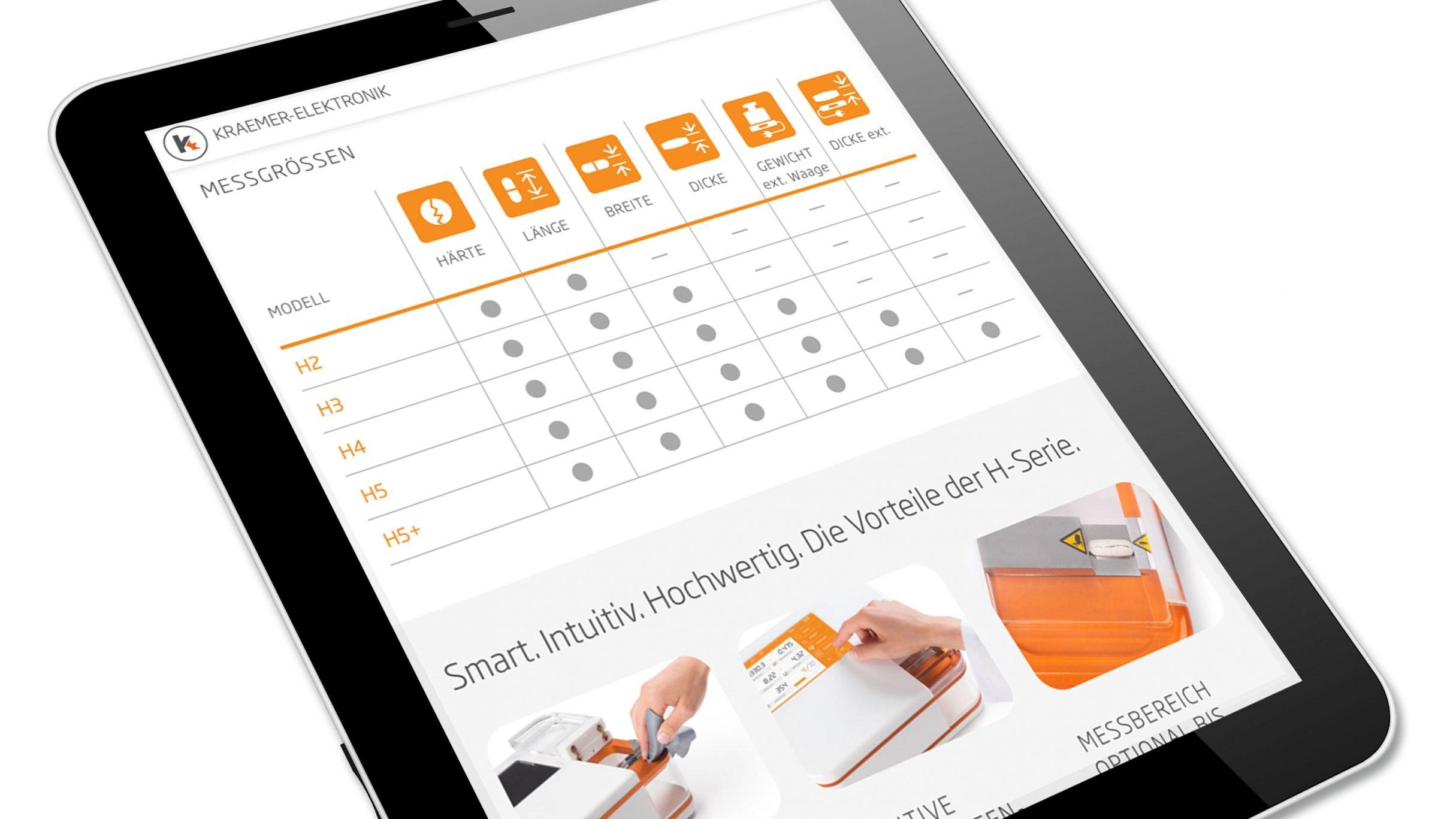 Website Labline für Kraemer Elektronik: DIE NEUDENKER® Agentur, Darmstadt