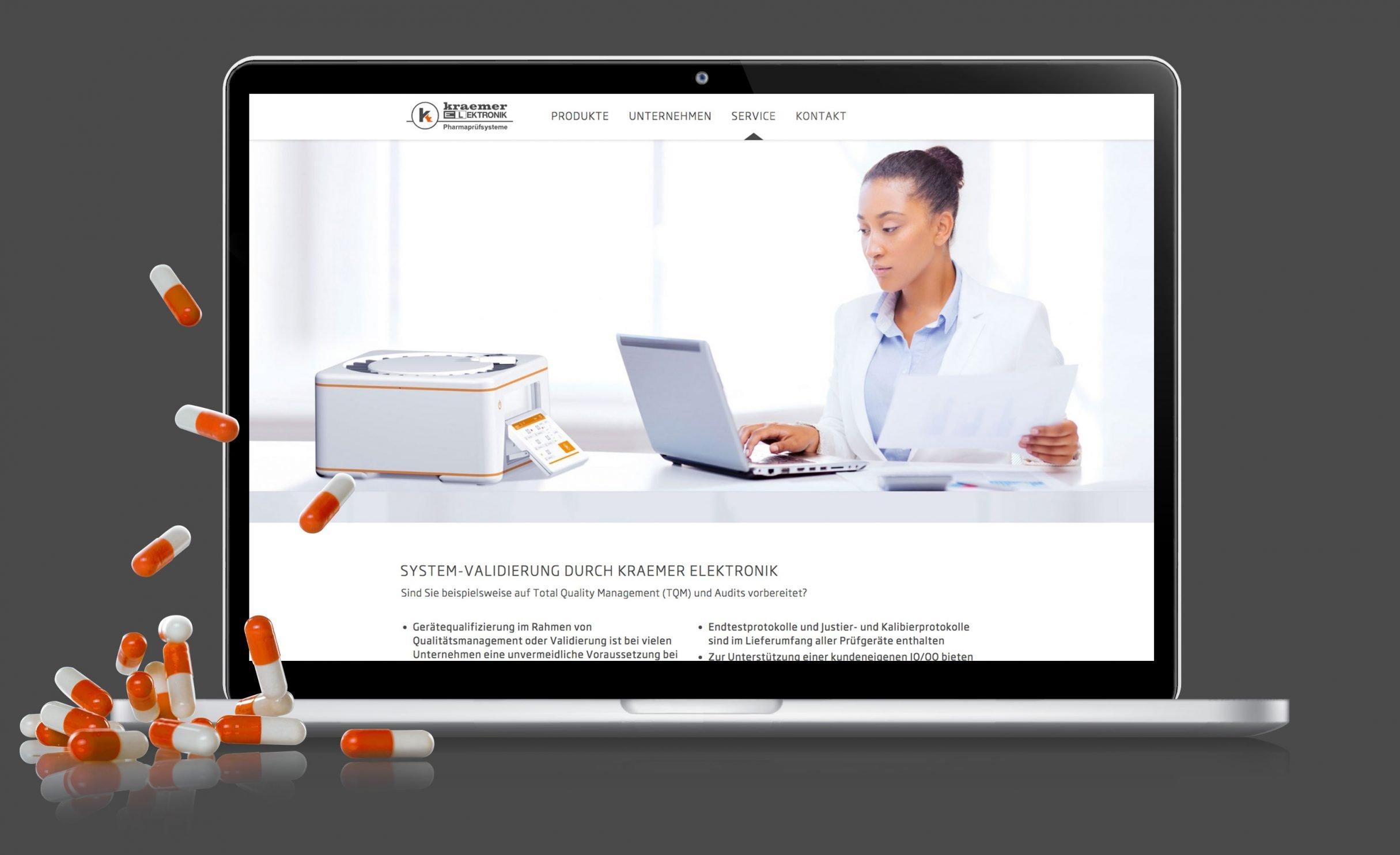 Corporate Website für Kraemer Elektronik: DIE NEUDENKER® Agentur, Darmstadt