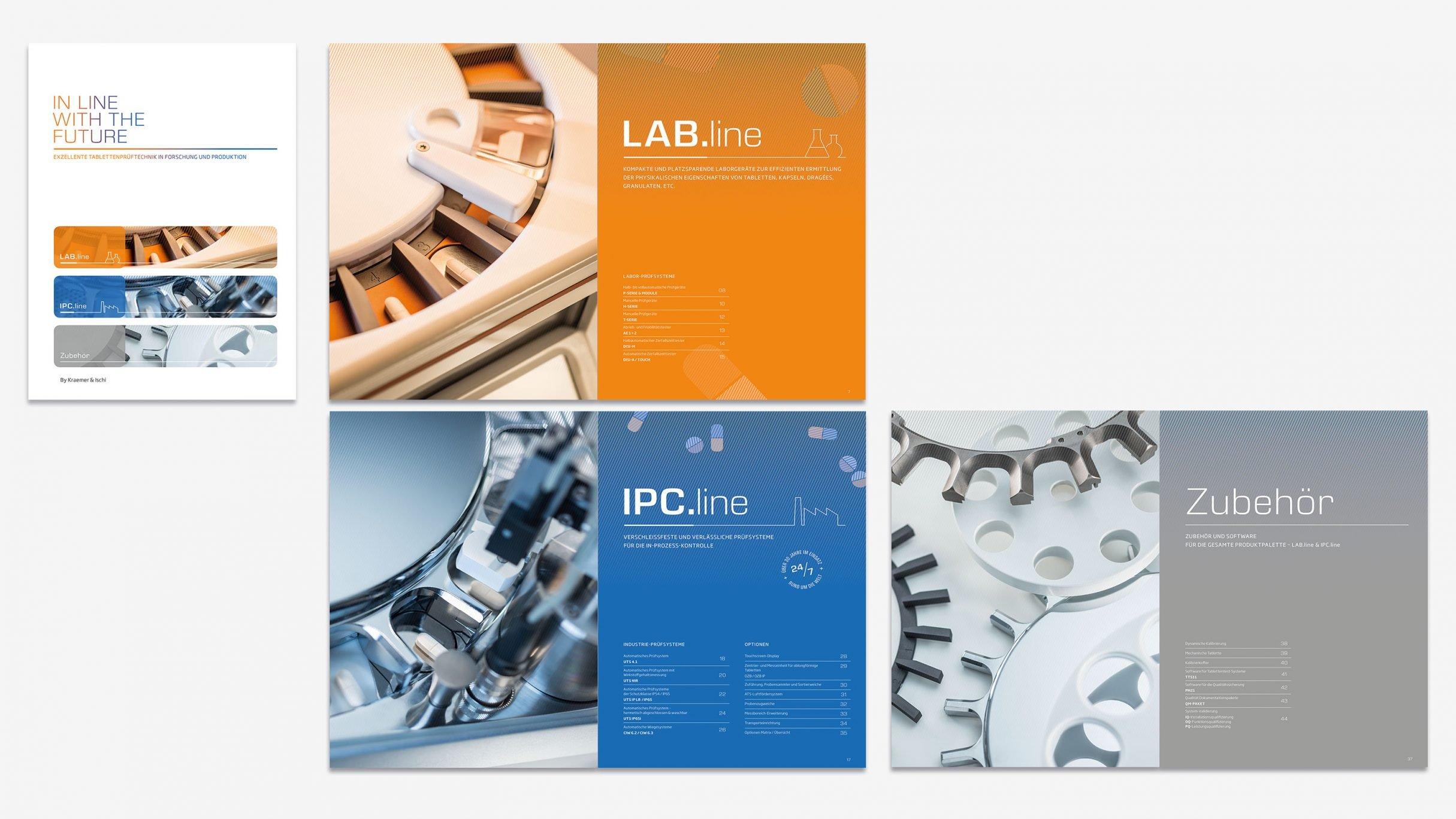 Corporate Design, Katalog für Kraemer Elektronik und Charles Ischi Tablettenprüftechnik: DIE NEUDENKER® Agentur, Darmstadt