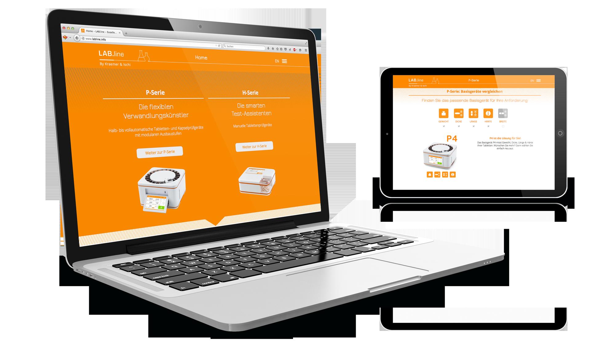 Micro Website Labline für Kraemer Elektronik und Charles Ischi: DIE NEUDENKER® Agentur, Darmstadt