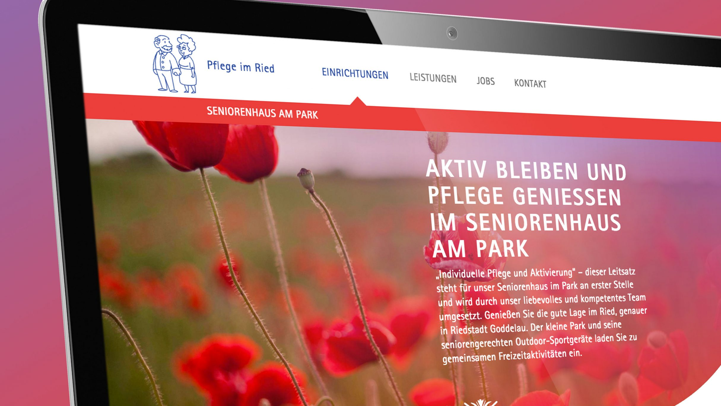 Responsive Webdesign für Pflege im Ried: DIE NEUDENKER® Agentur, Darmstadt