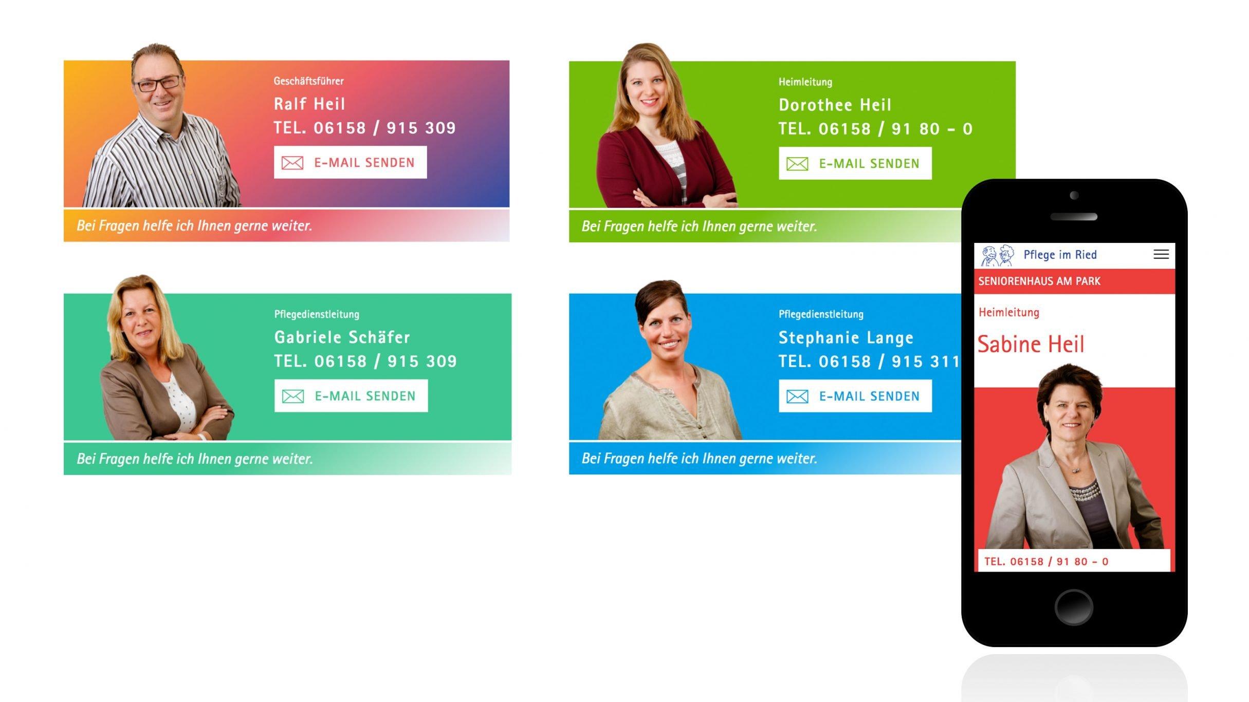 Responsive Website für Pflege im Ried: DIE NEUDENKER® Agentur, Darmstadt