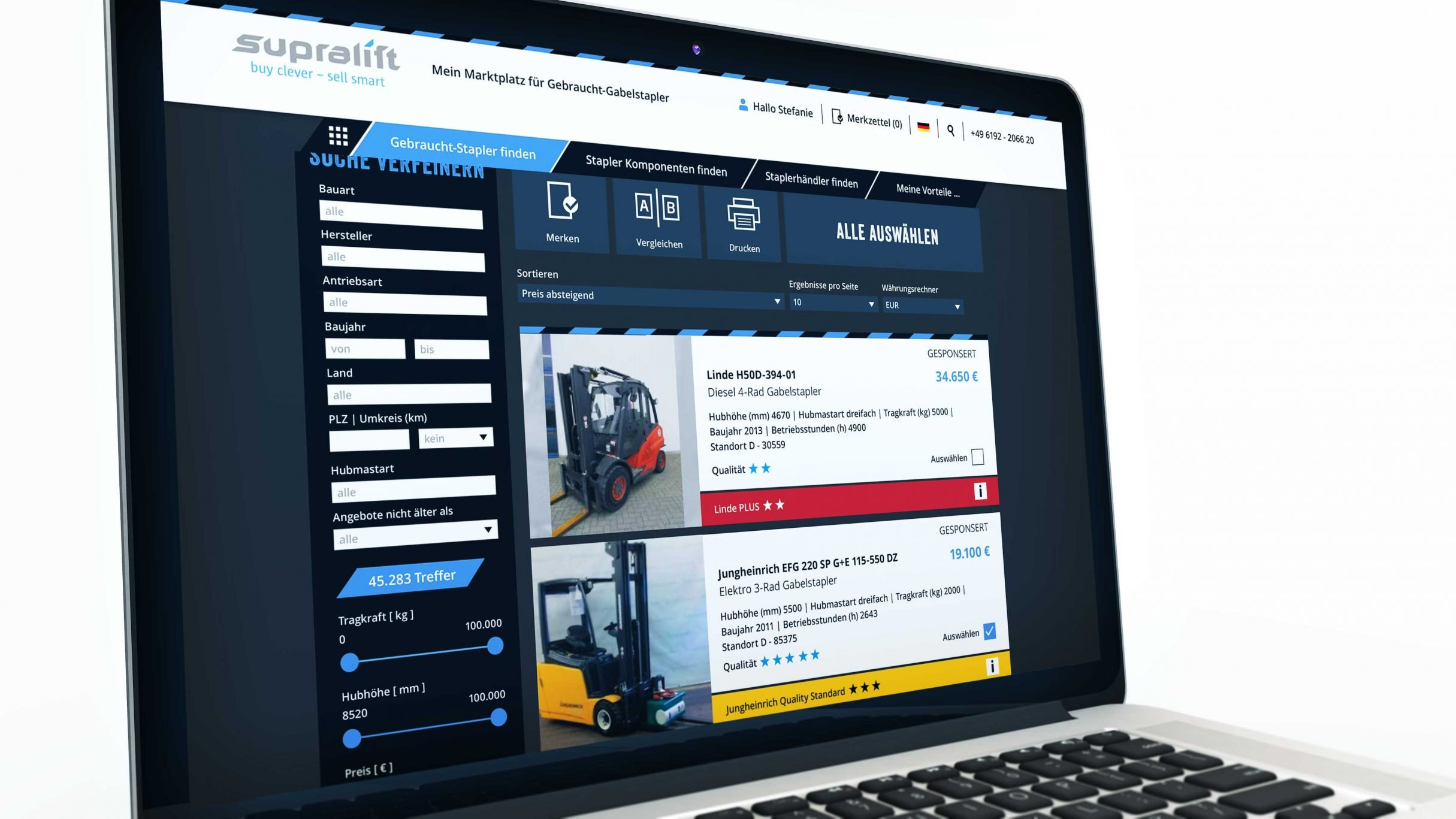 Webportal Programmierung für Supralift: DIE NEUDENKER® Agentur, Darmstadt