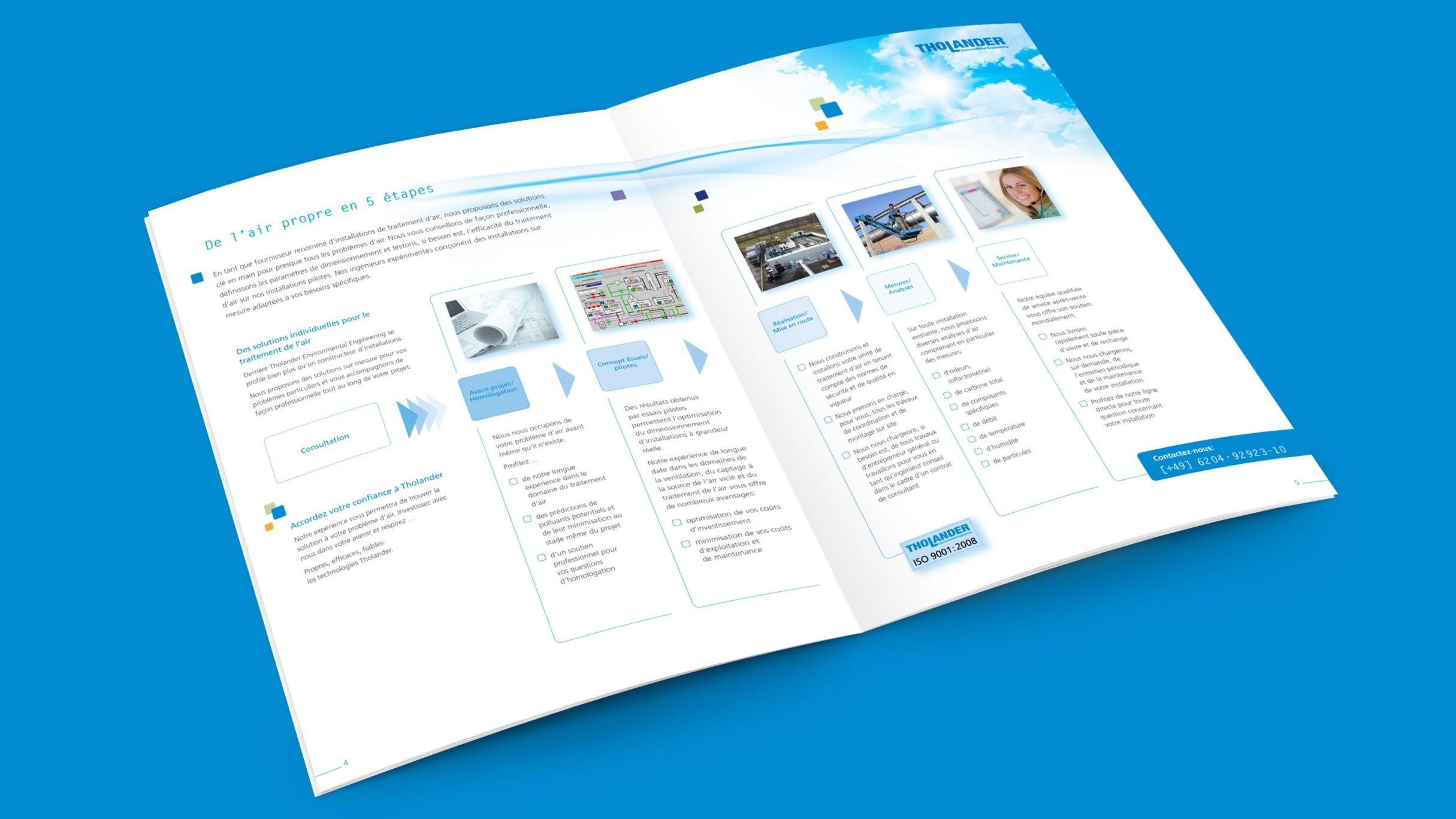 Broschüre für Tholander Ablufttechnik: DIE NEUDENKER® Agentur, Darmstadt