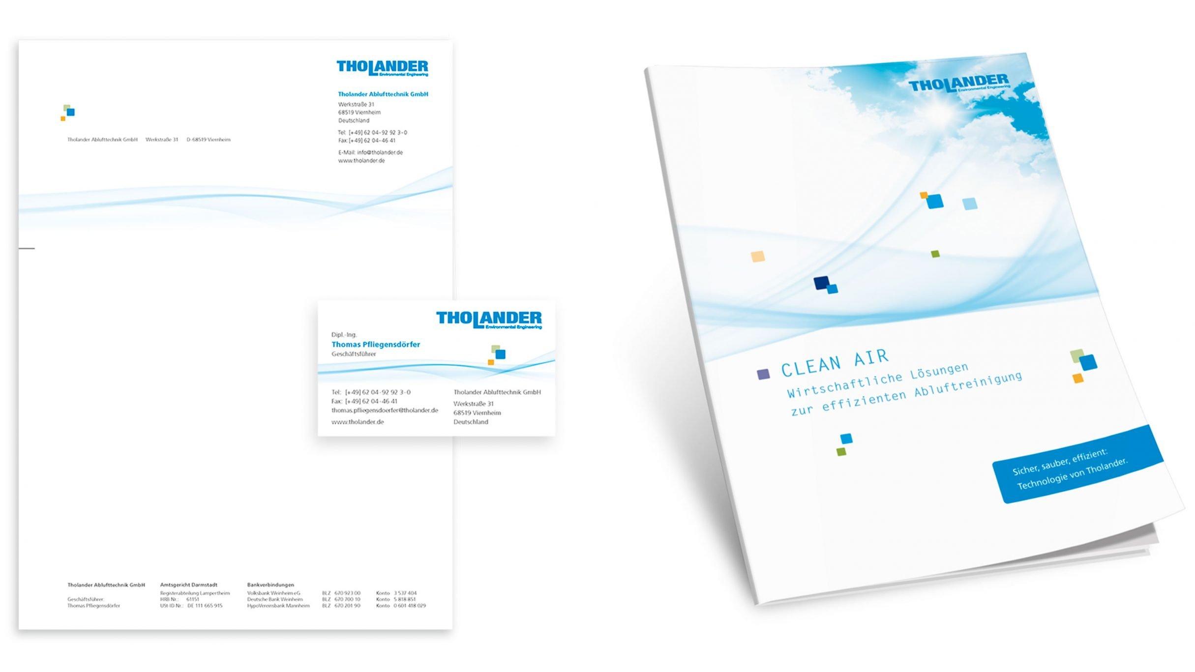 Corporate Design, Broschüre für Tholander Ablufttechnik: DIE NEUDENKER® Agentur, Darmstadt