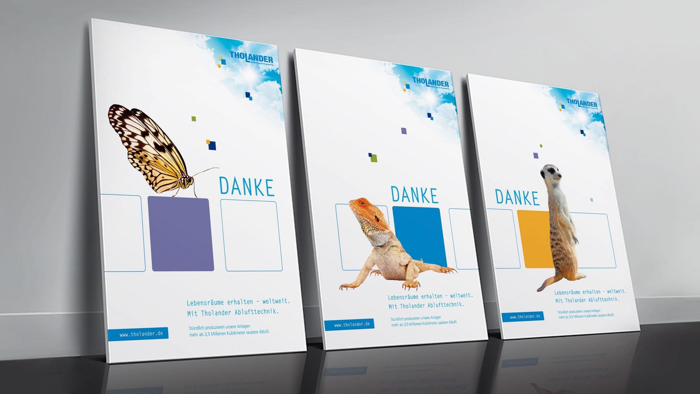Corporate Design, Markenkommunikation, Plakate für Tholander: DIE NEUDENKER® Agentur, Darmstadt