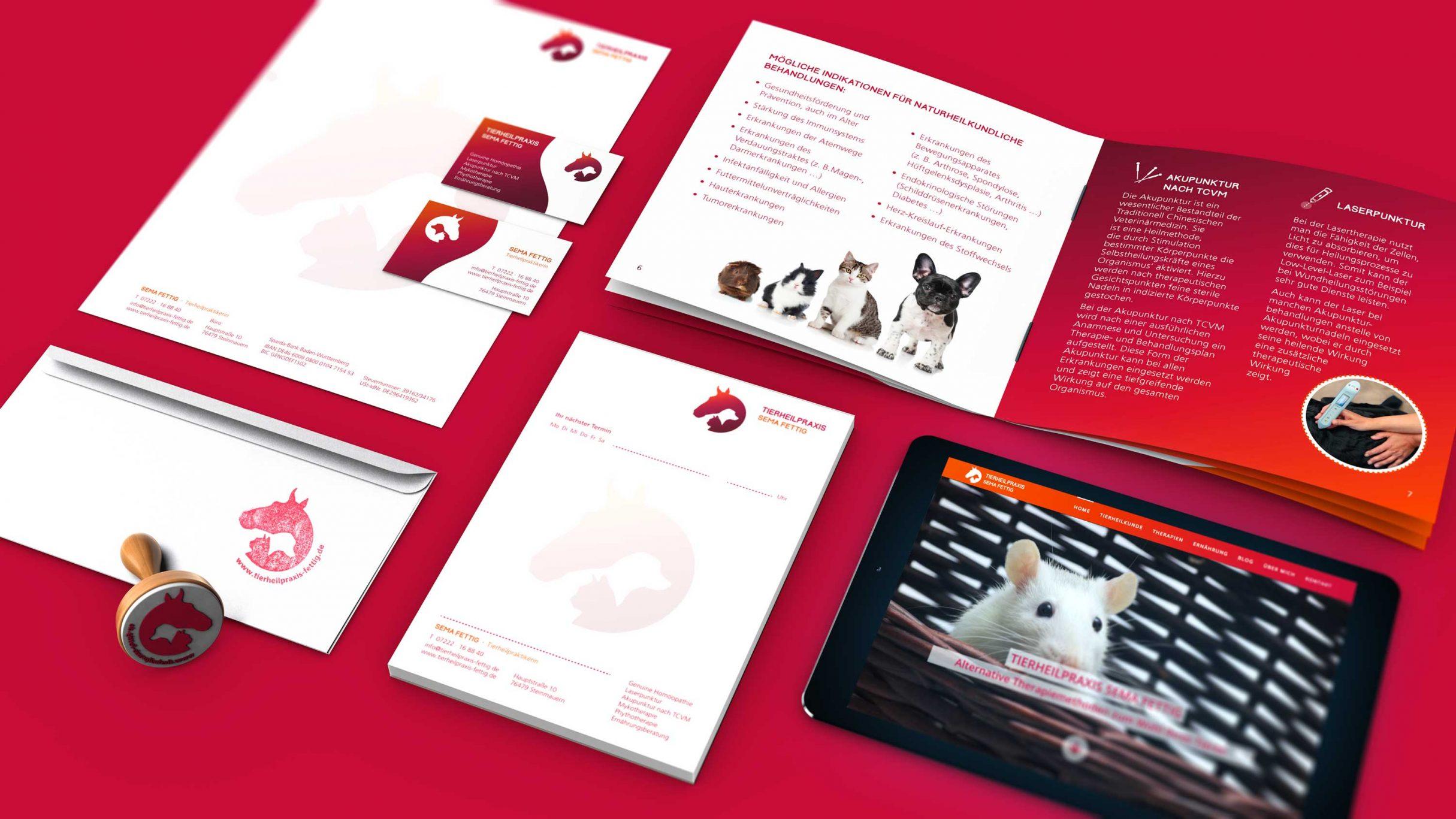 Tierheilpraxis Sema Fettig, Corporate Design, Geschäftsausstattung: DIE NEUDENKER® Agentur, Darmstadt