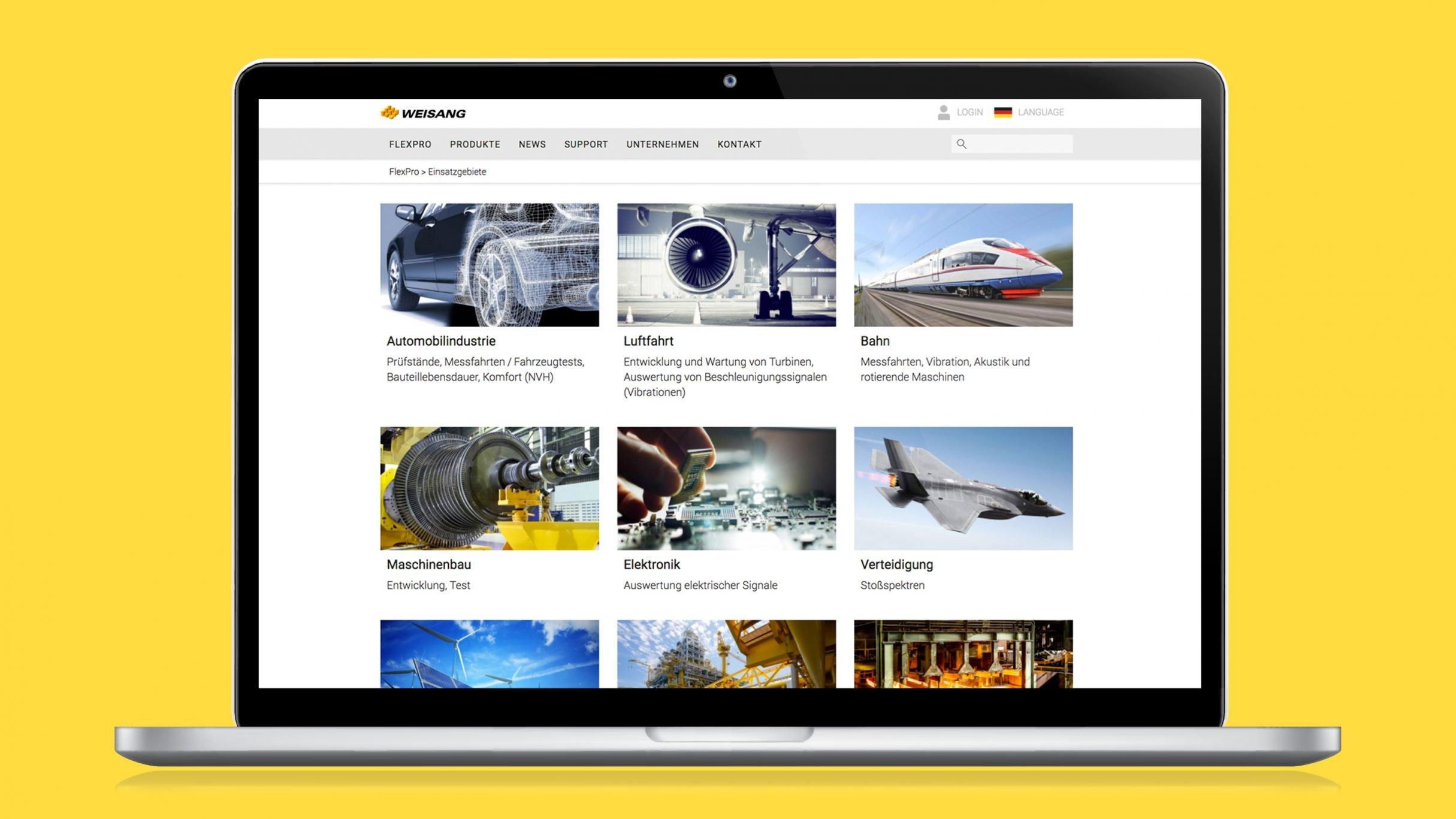 Responsive Webdesign, FlexPro Software Download für Weisang: DIE NEUDENKER® Agentur, Darmstadt