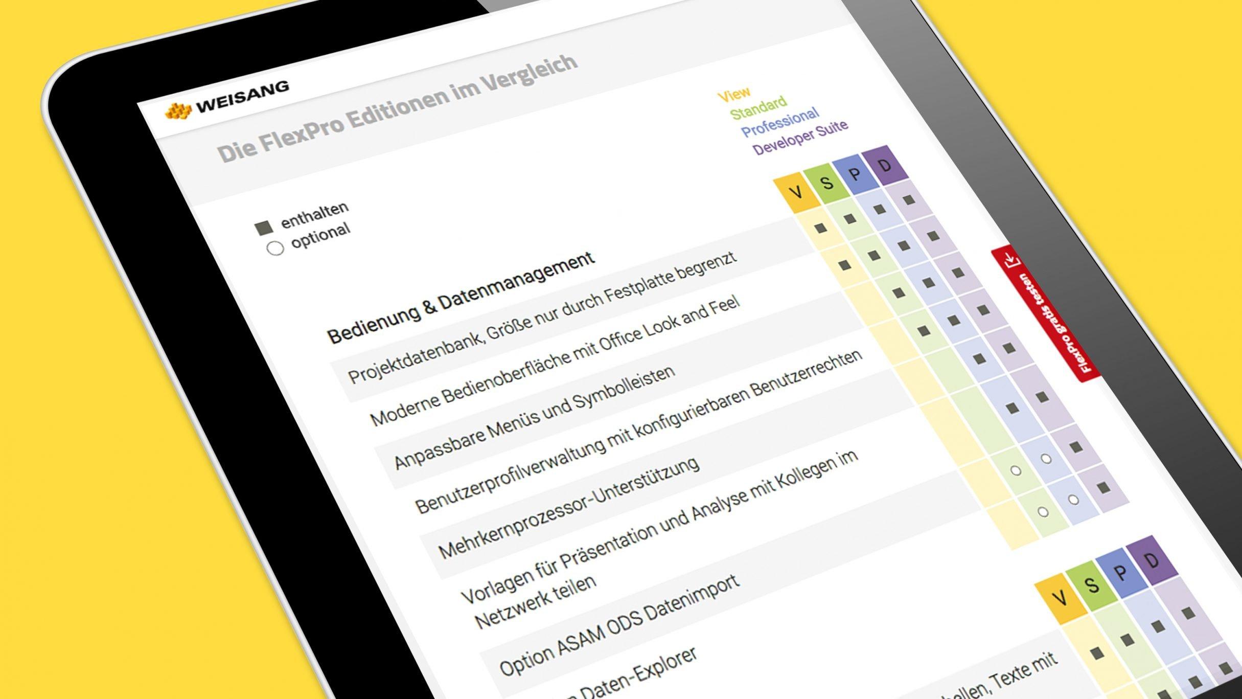Responsive Webdesign, FlexPro Softwareeditionen für Weisang: DIE NEUDENKER® Agentur, Darmstadt