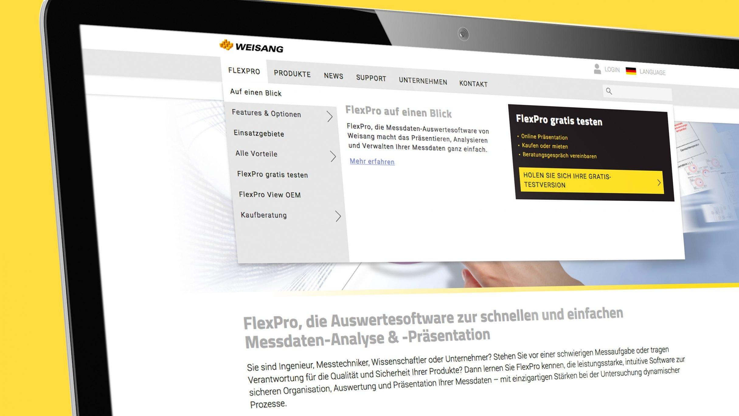 Responsive Webdesign, Navigation für Weisang: DIE NEUDENKER® Agentur, Darmstadt