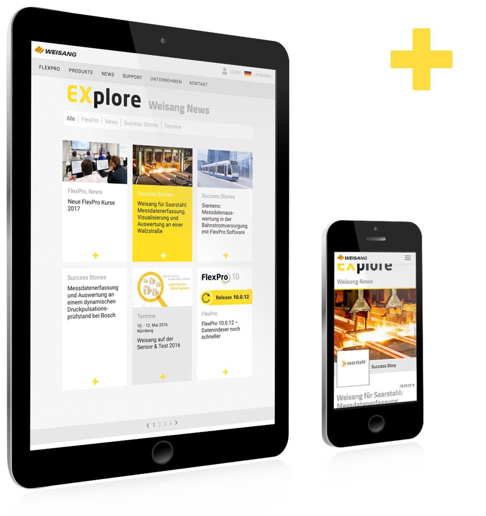 Responsive Webdesign, news magazin für Weisang: DIE NEUDENKER® Agentur, Darmstadt