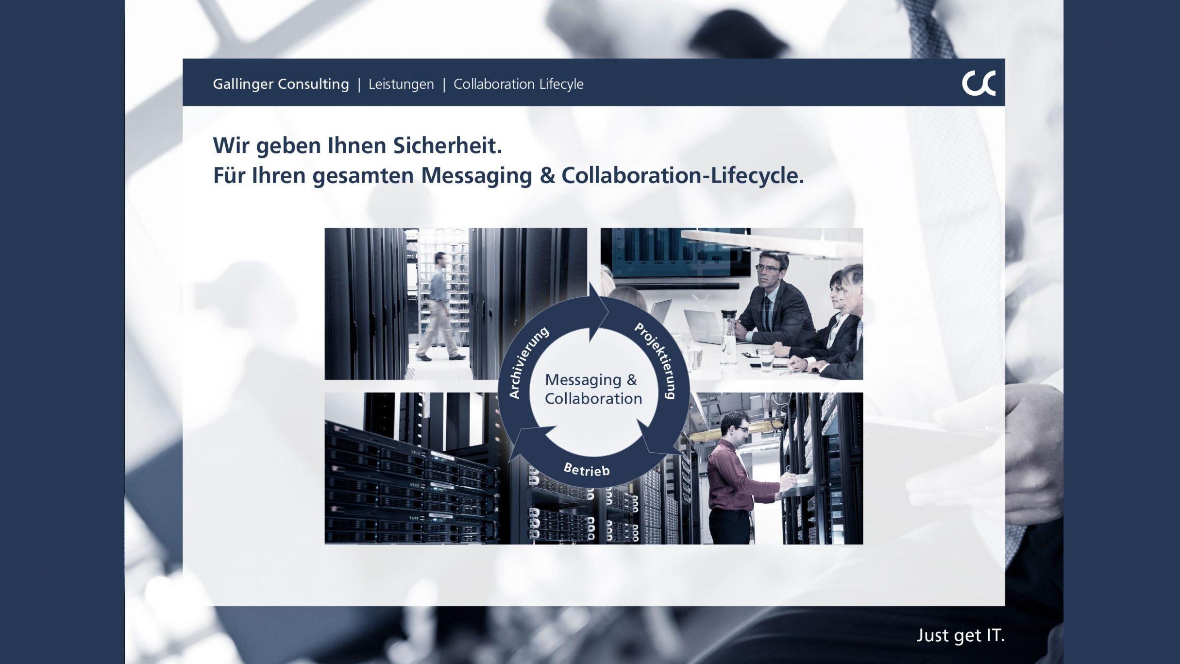 Unternehmenspräsentation, Lifecycle Leistungen für Gallinger Consulting: DIE NEUDENKER® Agentur, Darmstadt