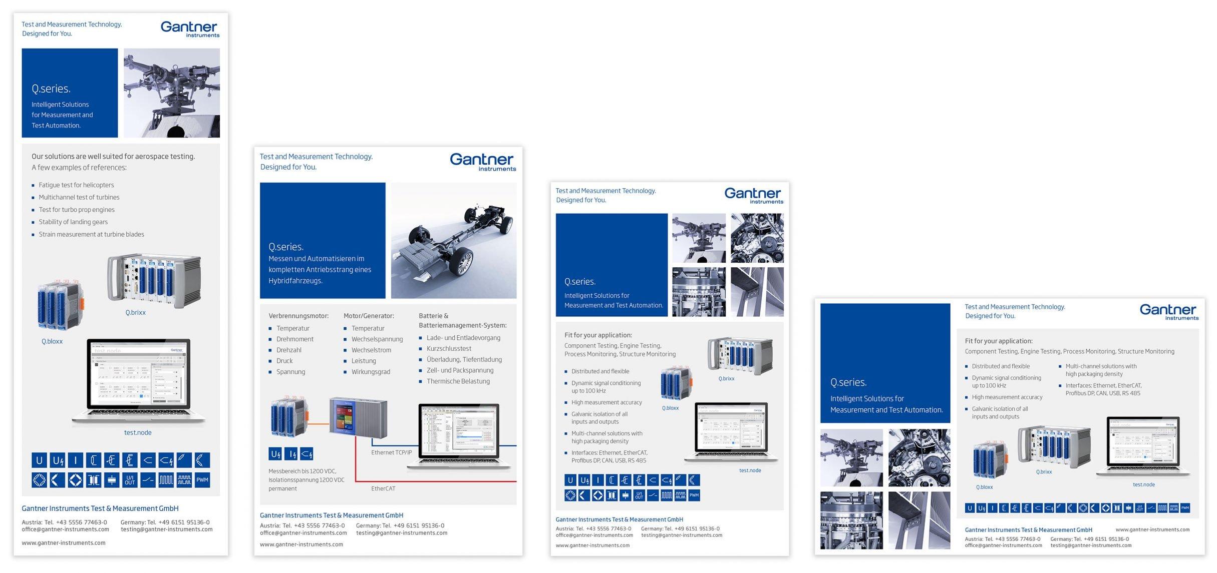 Anzeigen für Gantner Instruments: DIE NEUDENKER® Agentur, Darmstadt