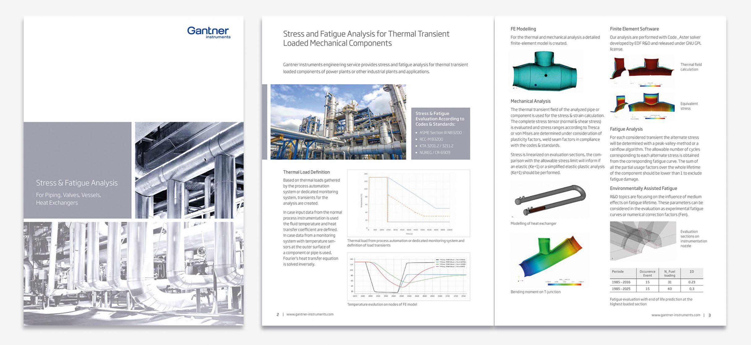 Broschüre Innenansicht, Geschäftsausstattung für Gantner Instruments: DIE NEUDENKER® Agentur, Darmstadt