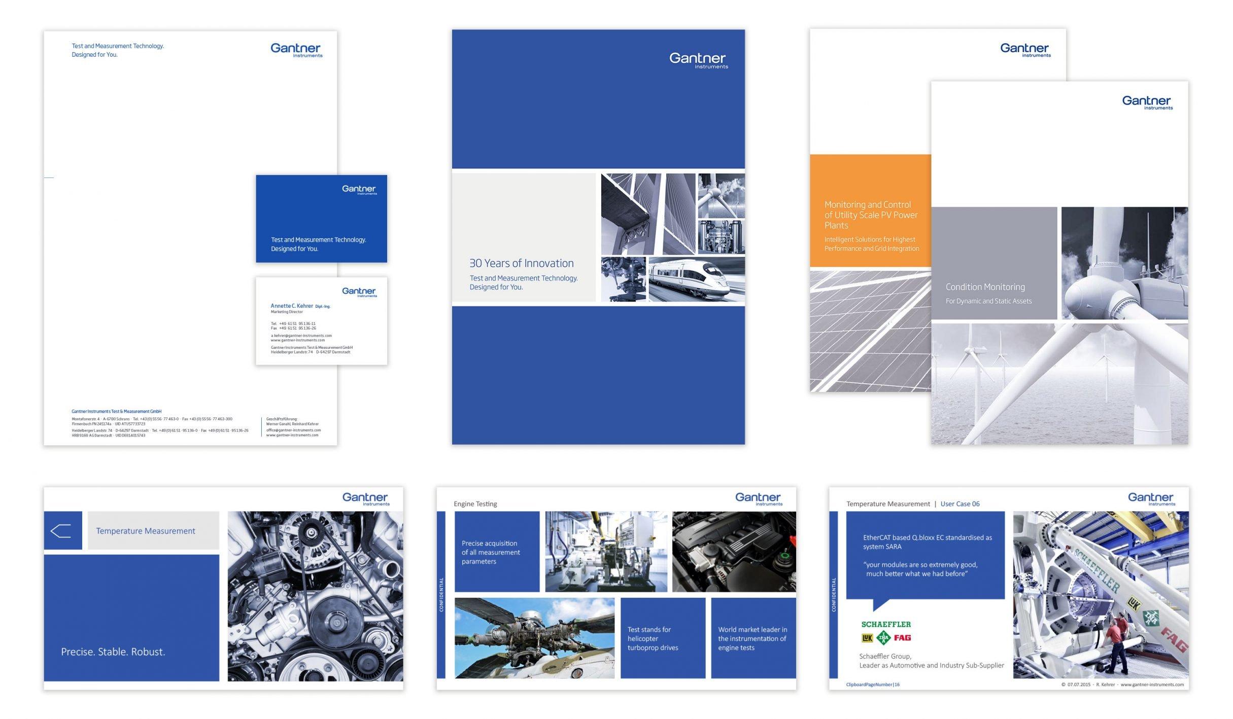 Corporate Design, Branding für Gantner Instruments: DIE NEUDENKER® Agentur, Darmstadt