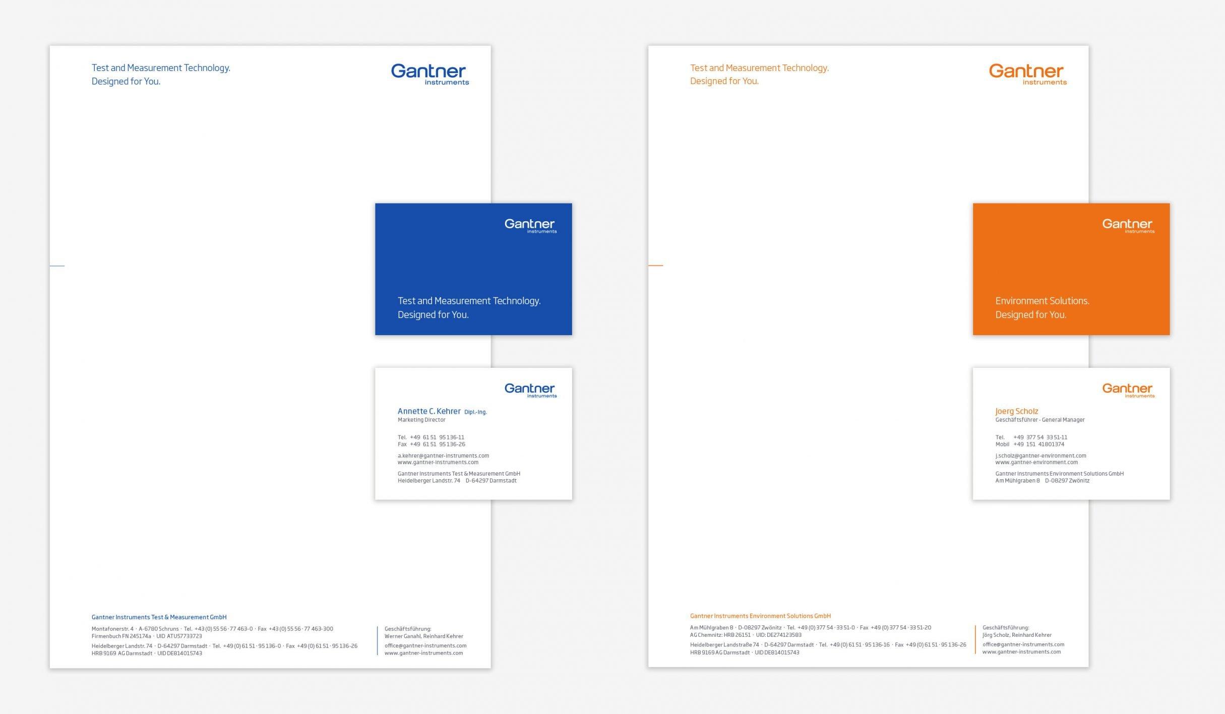Geschäftsausstattung Für Gantner Die Neudenker Design Agentur