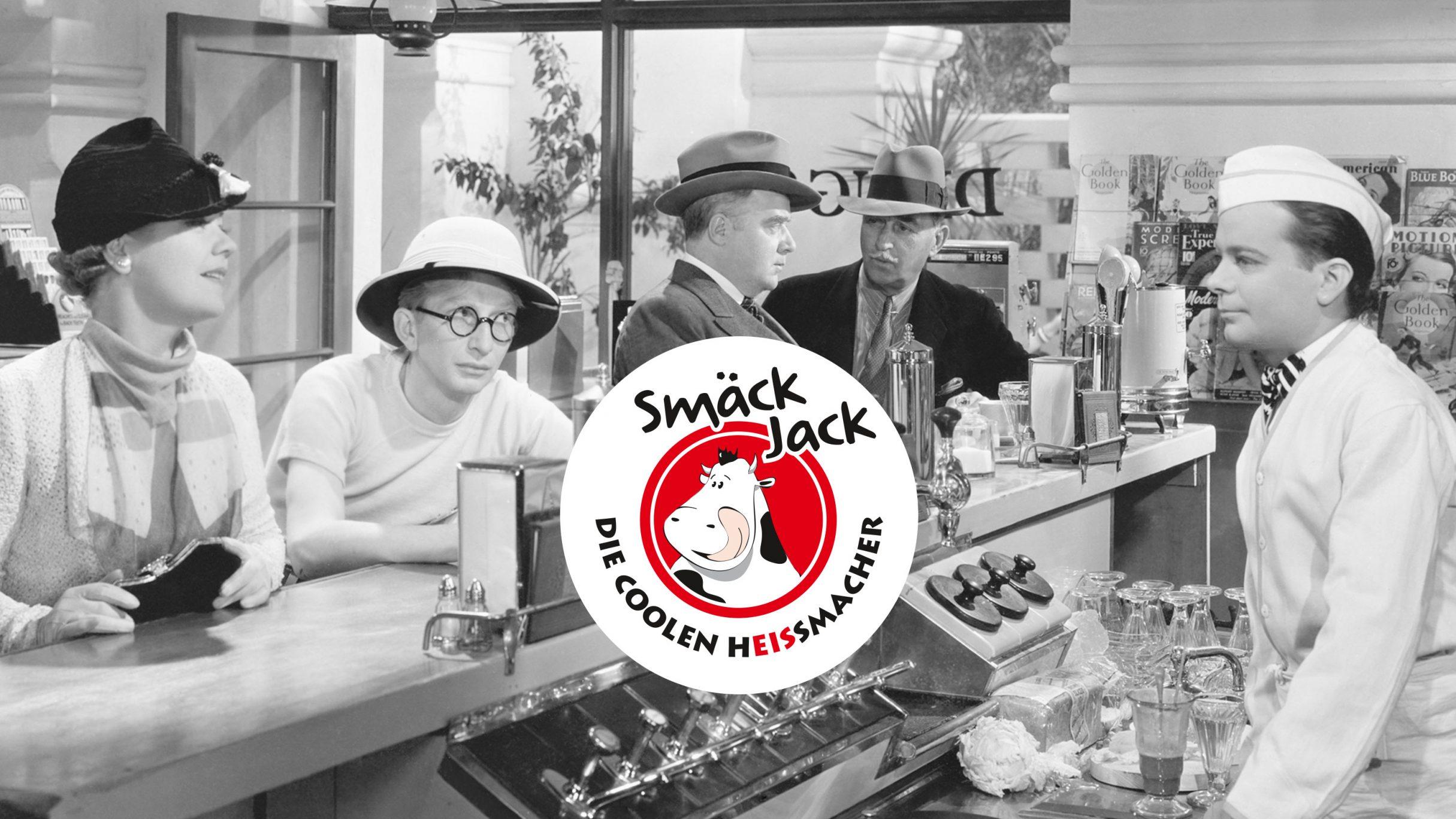Corporate Design, Sticker für das Eiscafe Smäckjack: DIE NEUDENKER® Agentur, Darmstadt