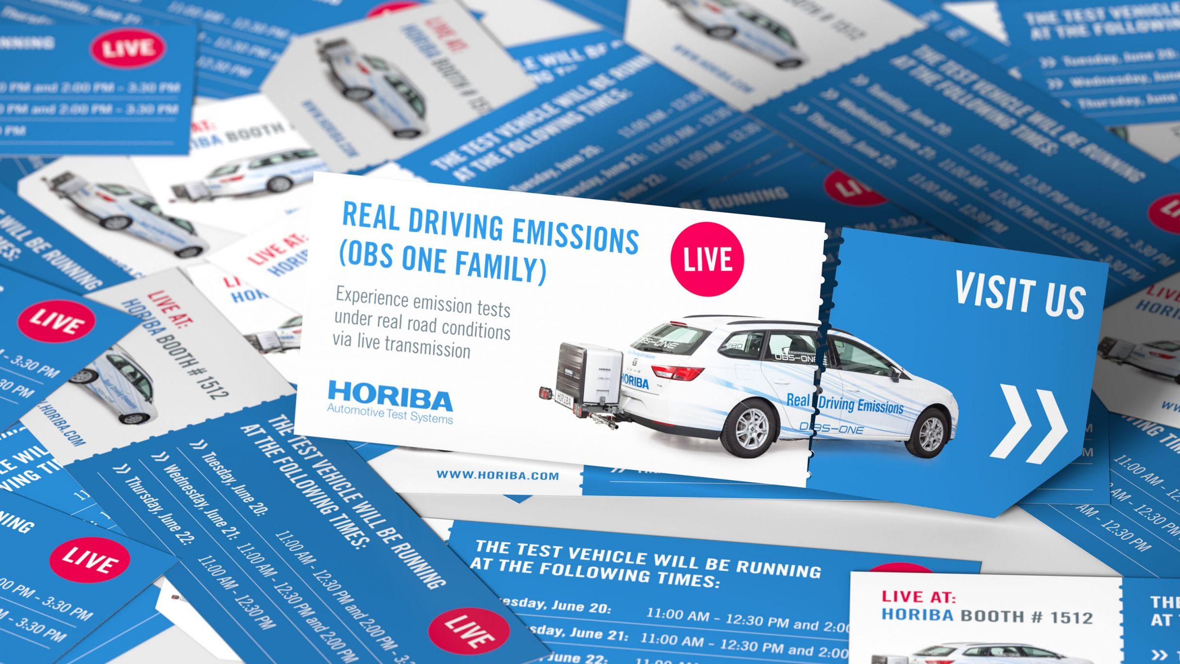 live stream real driving emissions Flyer für HORIBA: DIE NEUDENKER® Agentur, Darmstadt