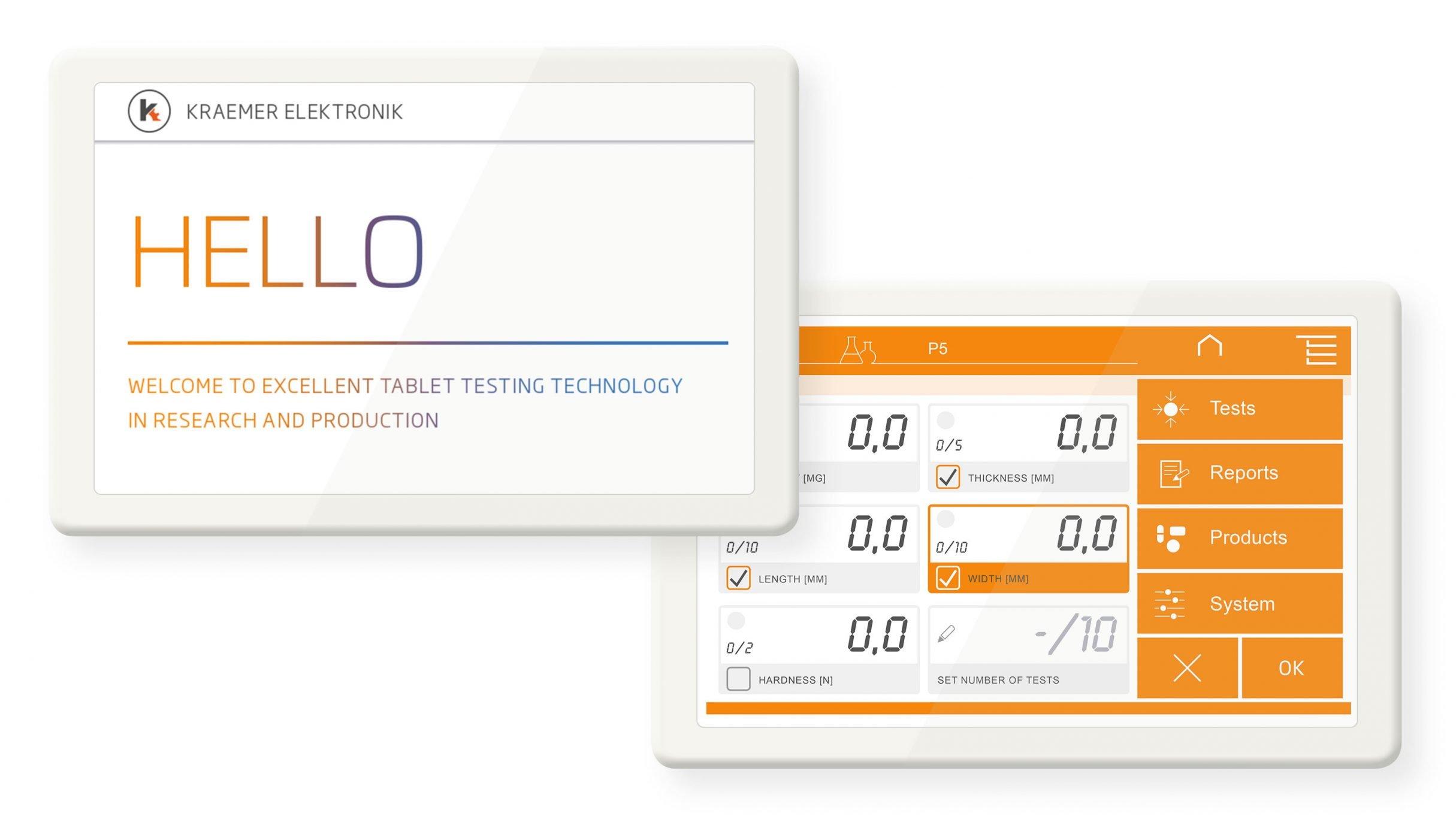 Bedienkonzept Touchscreen für Kraemer Elektronik: DIE NEUDENKER® Agentur, Darmstadt
