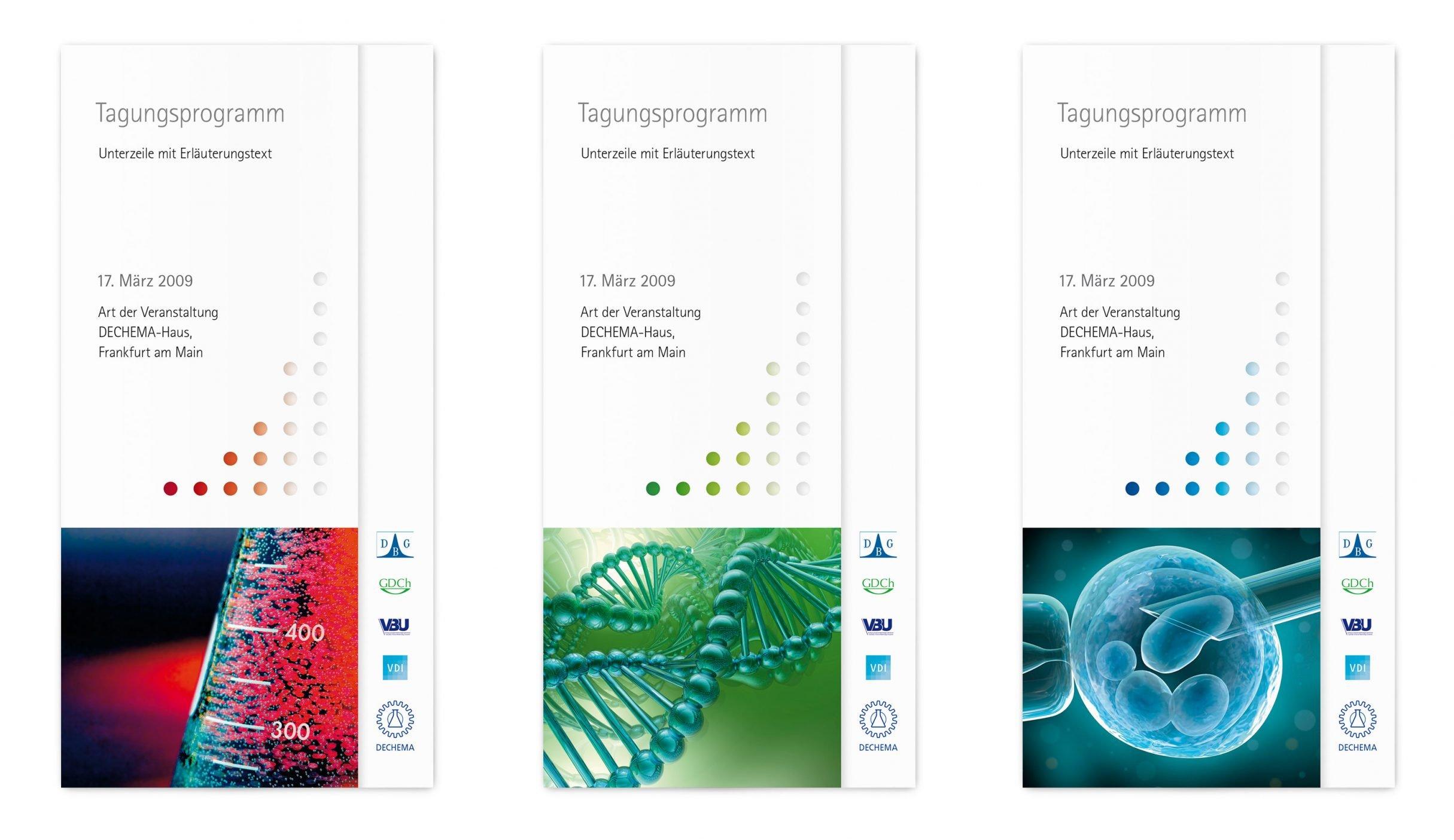 Corporate Design, Broschüren für DECHEMA e.V.: DIE NEUDENKER® Agentur, Darmstadt