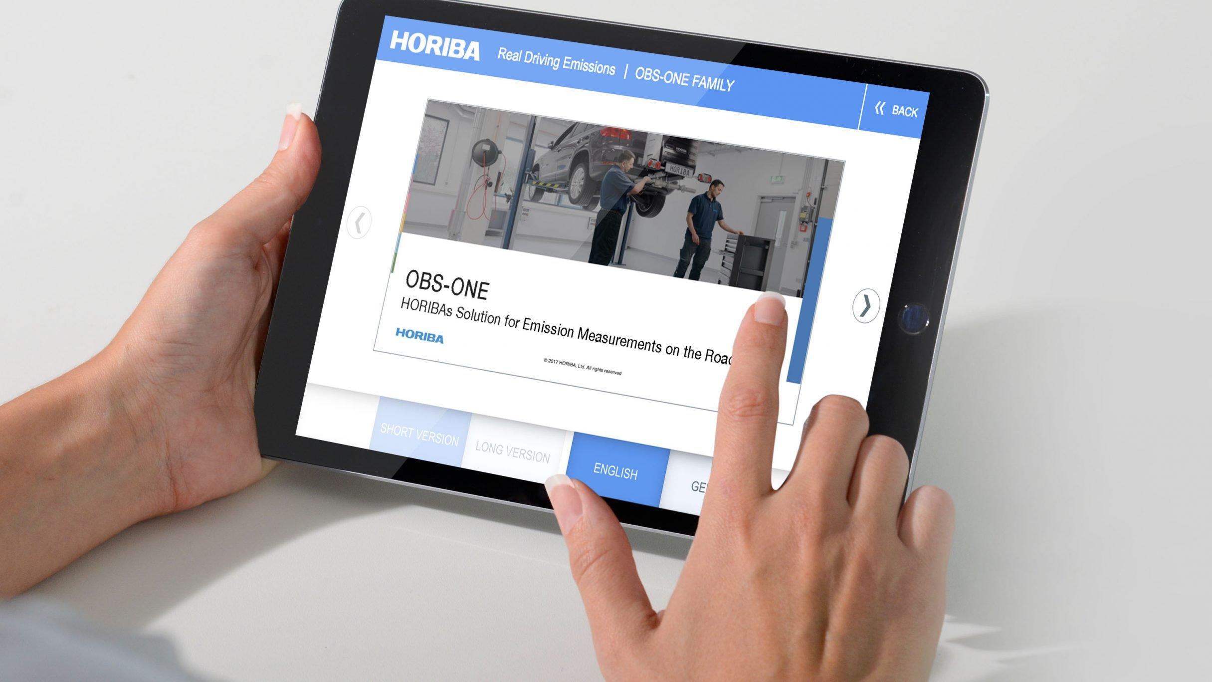 Messe-Präsentationsapp, App Entwicklung für HORIBA: DIE NEUDENKER® Agentur, Darmstadt