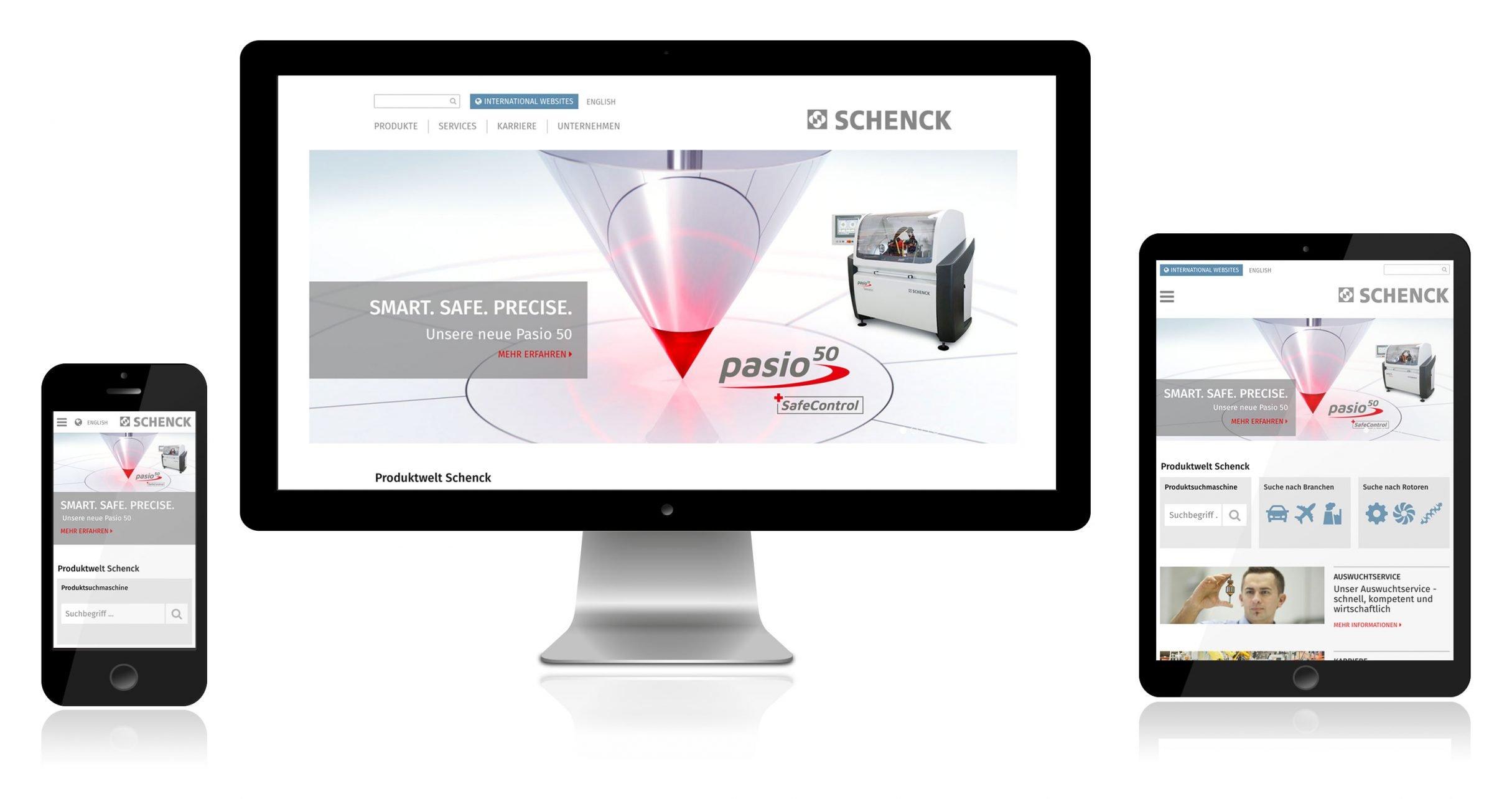 SCHENCK Screenshots Kampagne Auswuchtmaschinen: DIE NEUDENKER® Agentur, Darmstadt
