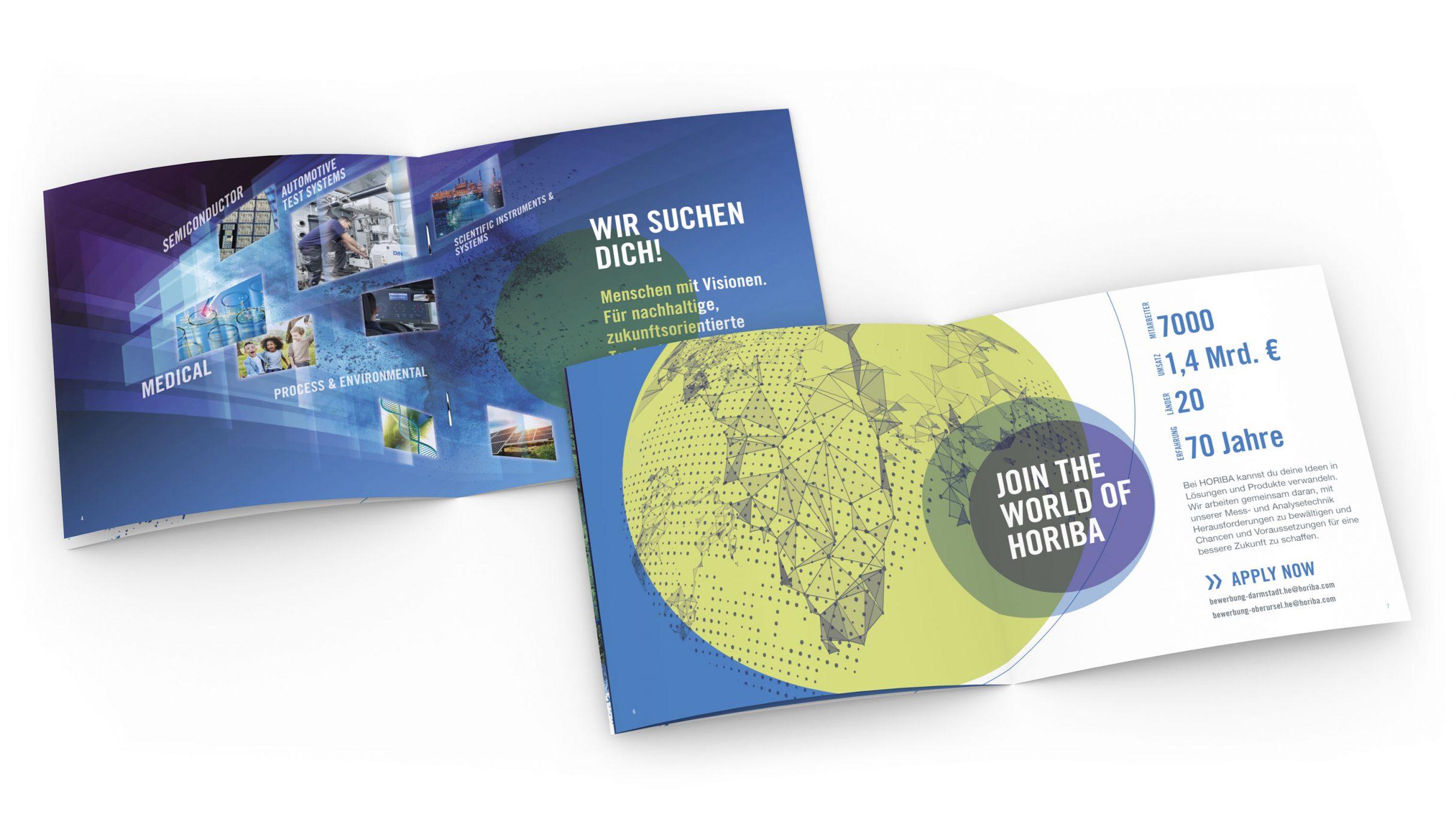 Recruiting Broschüre für HORIBA: DIE NEUDENKER® Agentur, Darmstadt