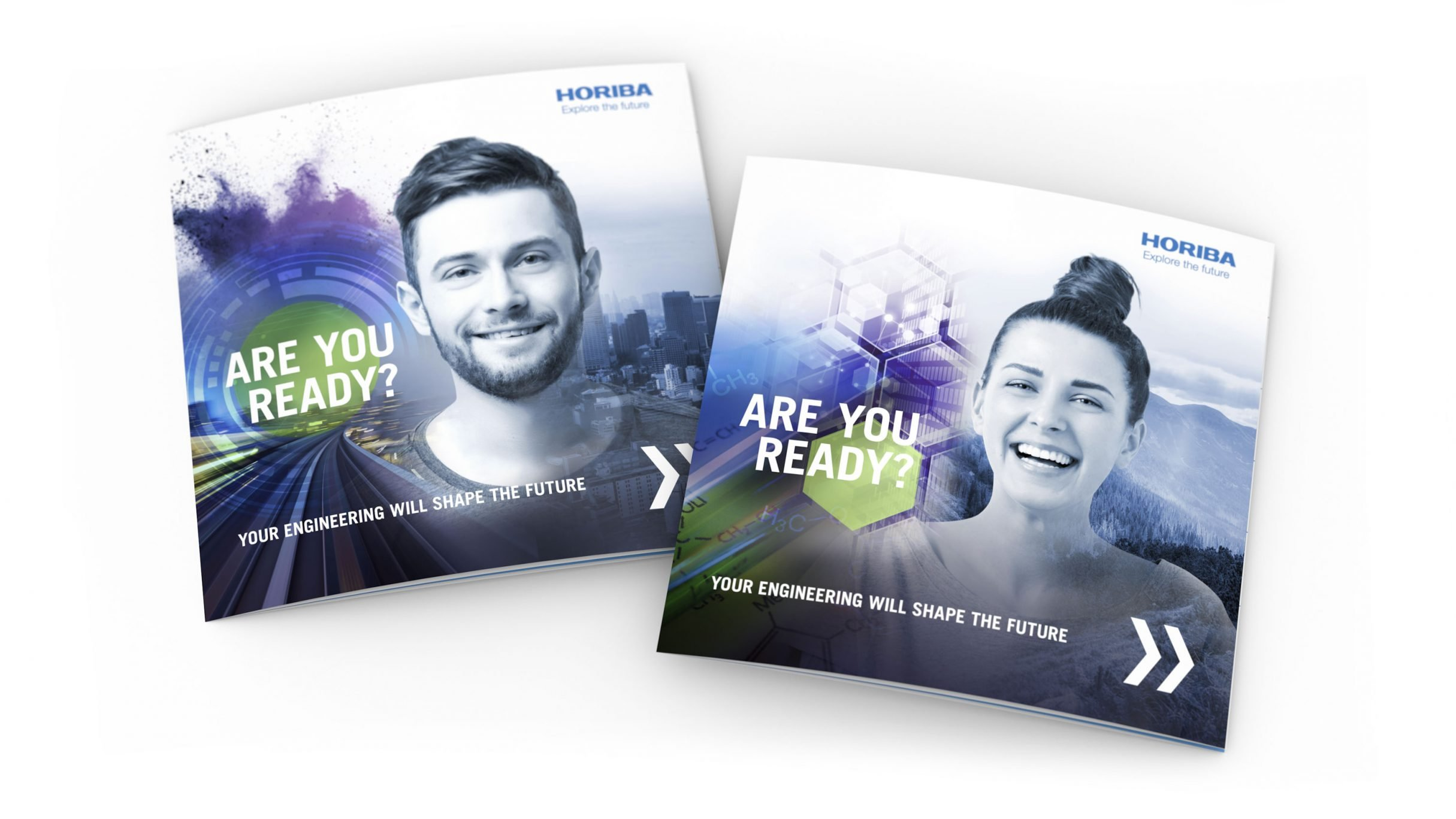 Recruiting Broschüre, verschiedene Cover für HORIBA: DIE NEUDENKER® Agentur, Darmstadt