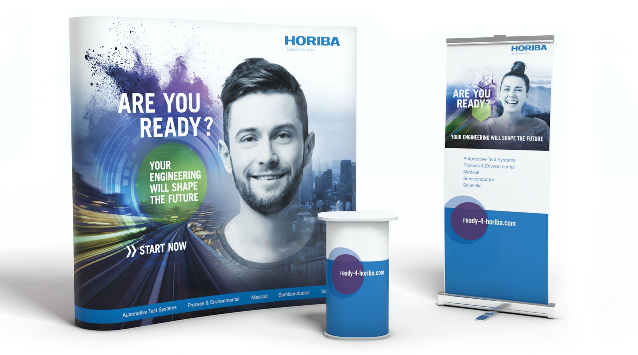 Recruiting Kampagne, Messedesign für HORIBA: DIE NEUDENKER® Agentur, Darmstadt